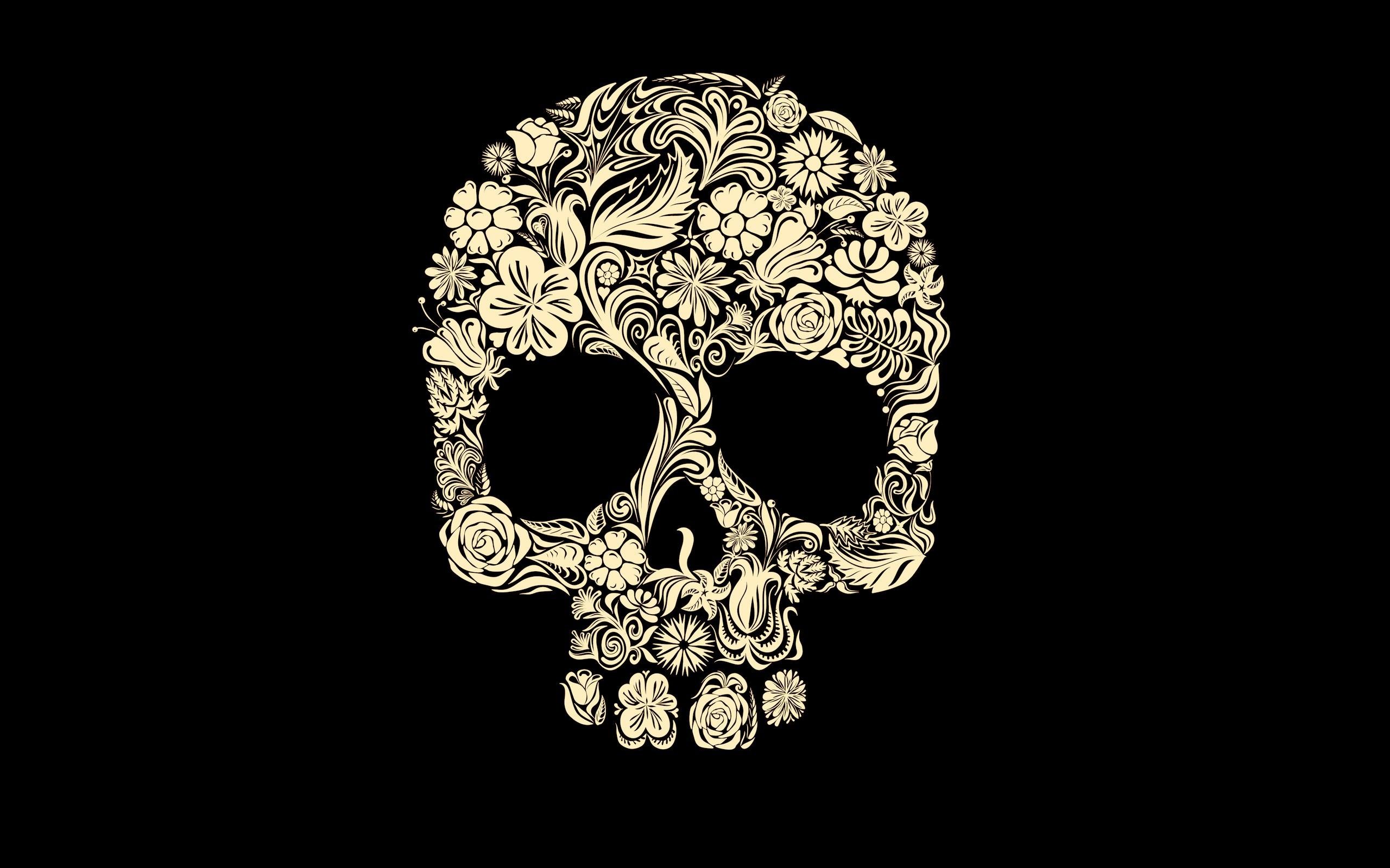 Res: 2560x1600, Dark - Skull Wallpaper