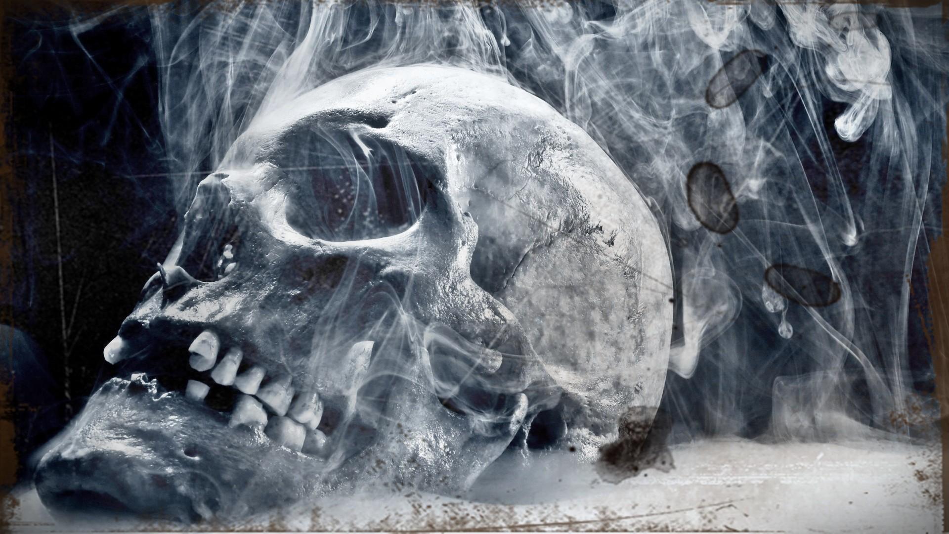 Res: 1920x1080, Skull Smoke 3d HD Wallpaper Wallpaper