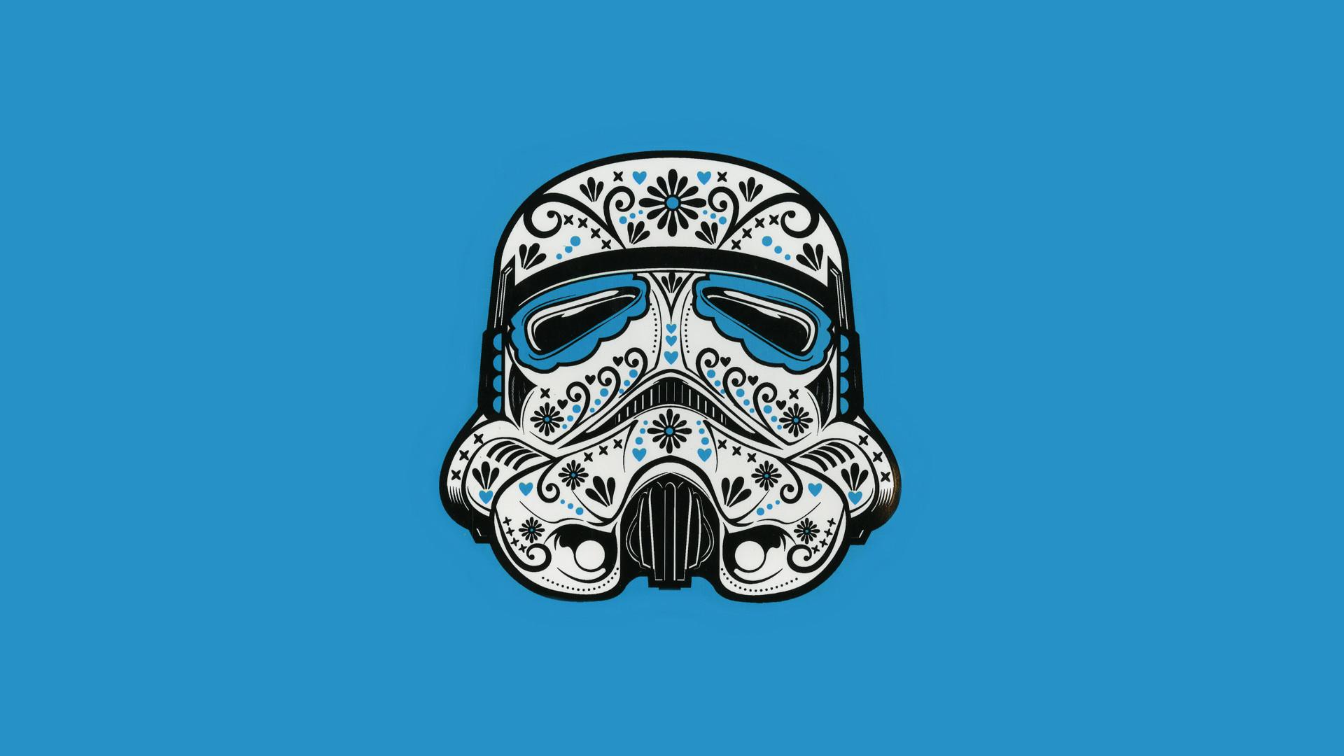 Res: 1920x1080, Sugar skull stormtrooper ...