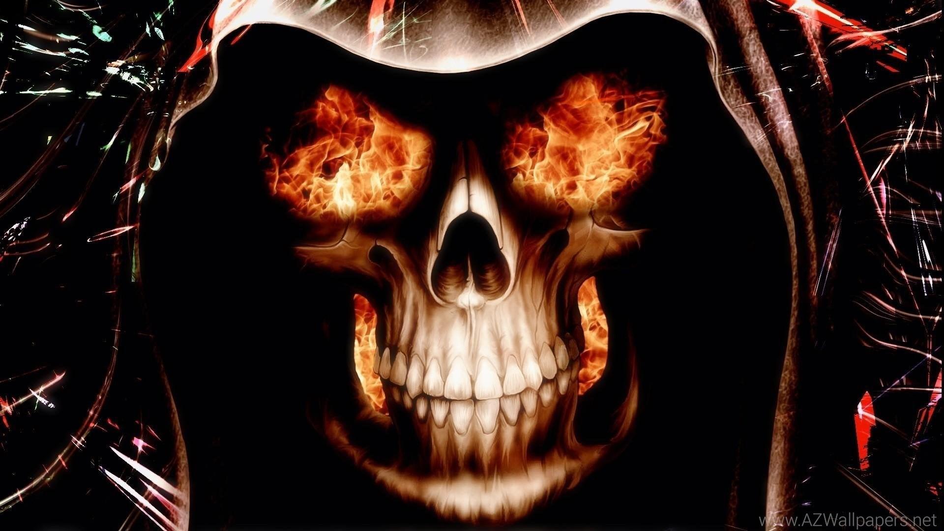 Res: 1920x1080, ... Skull wallpapers hd-fire-skull-wallpapers ...