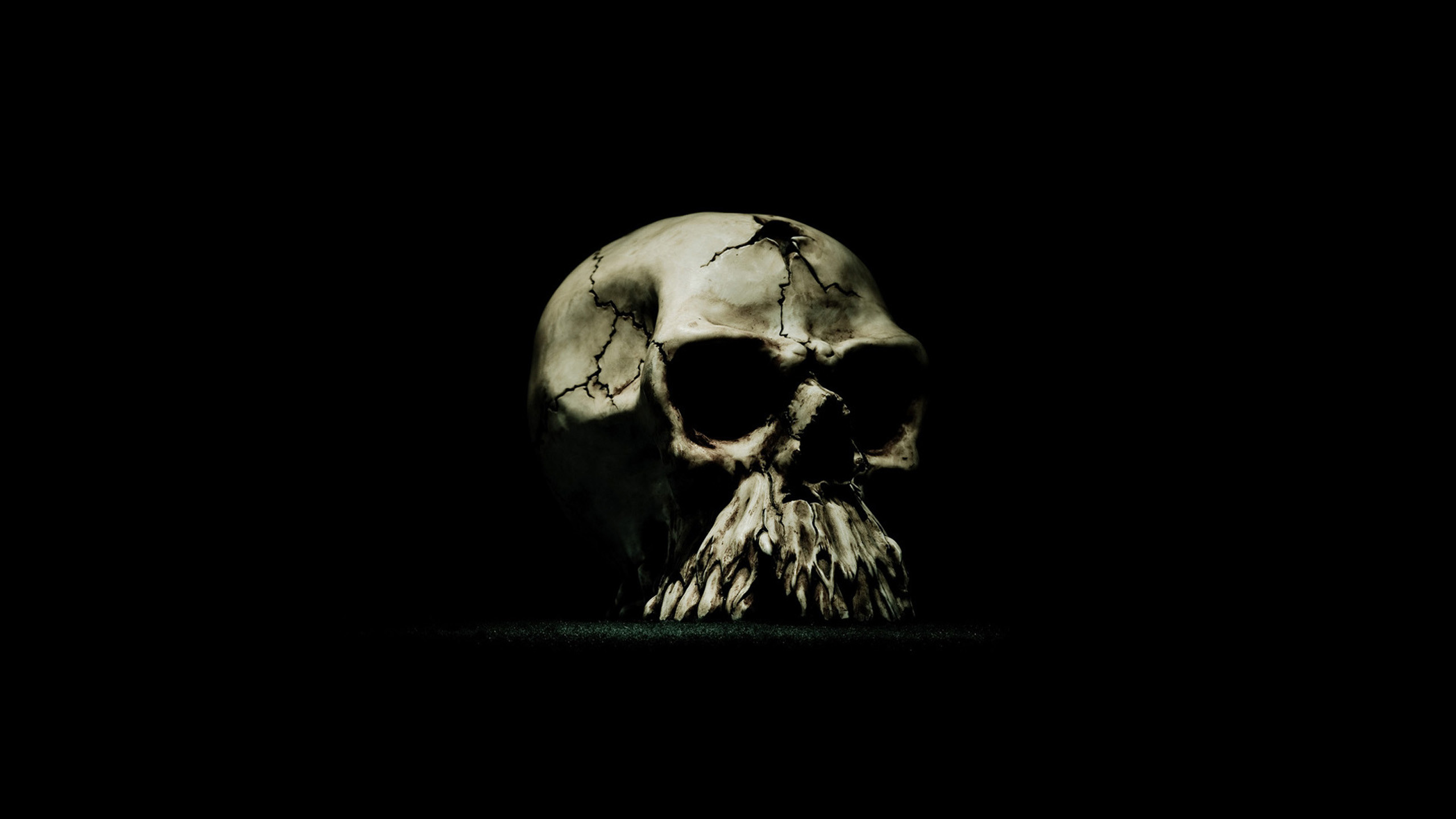Res: 2560x1440, Evil Bullet Skull Wallpaper
