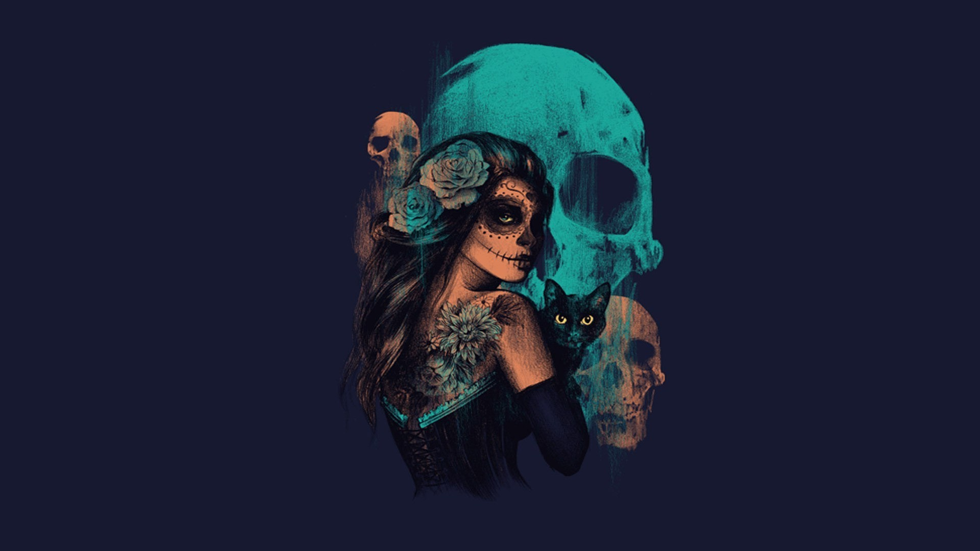Res: 1920x1080, sugar-skull-desktop-wallpaper8-600x338