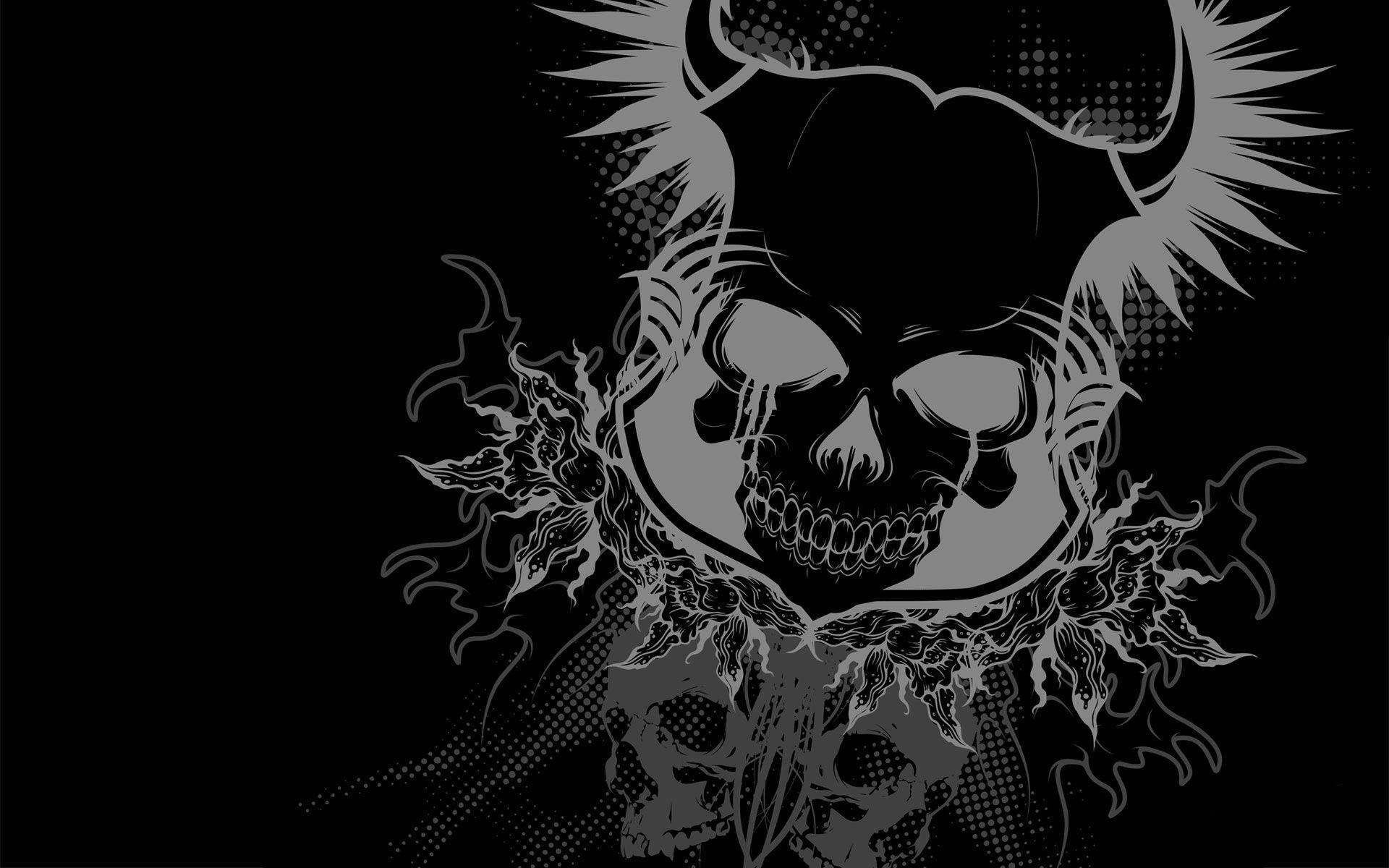Res: 1920x1200, Horned Skull desktop wallpaper