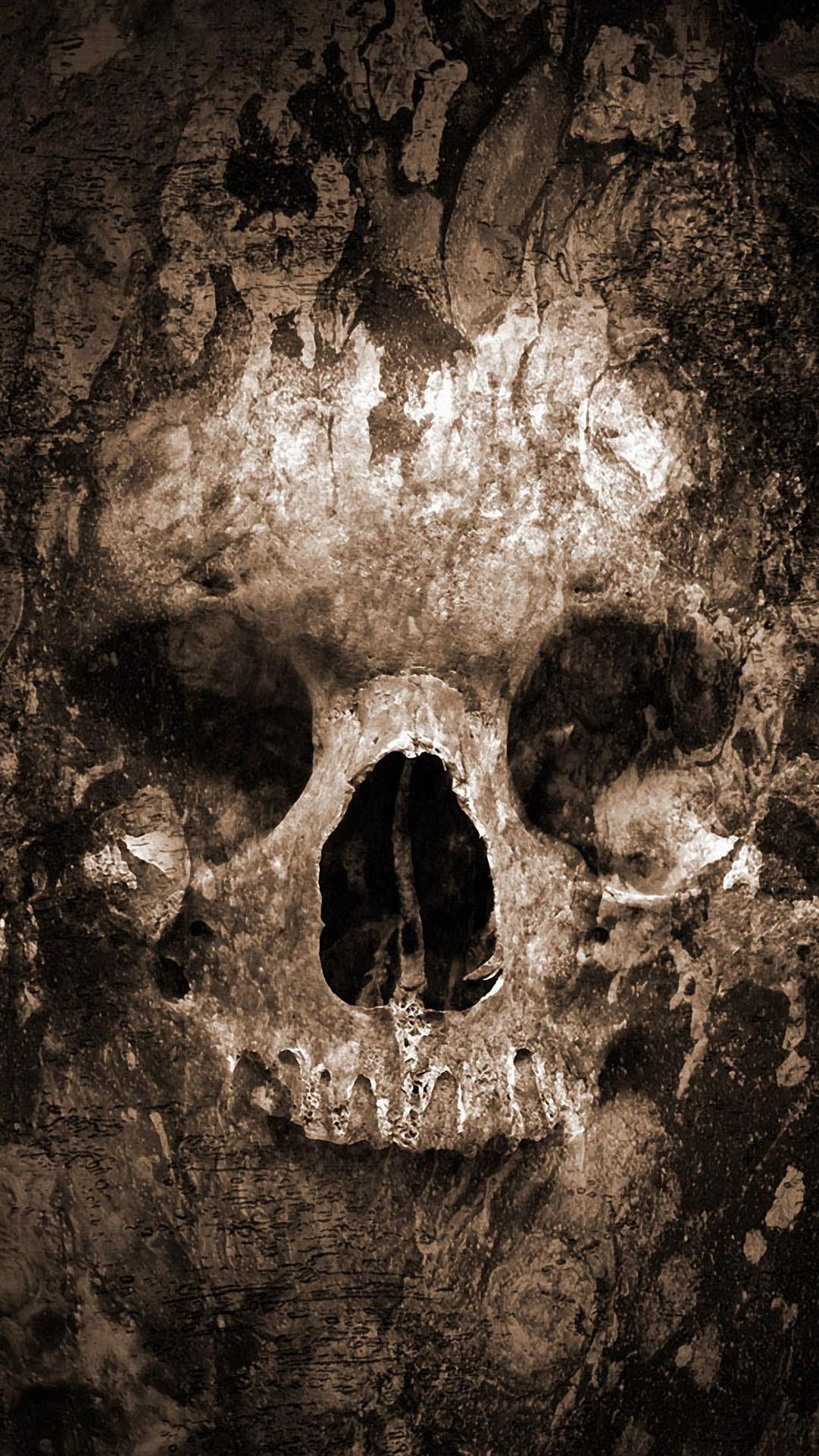 Res: 1080x1920, Skull Android Wallpaper, by Rolanda Viloria
