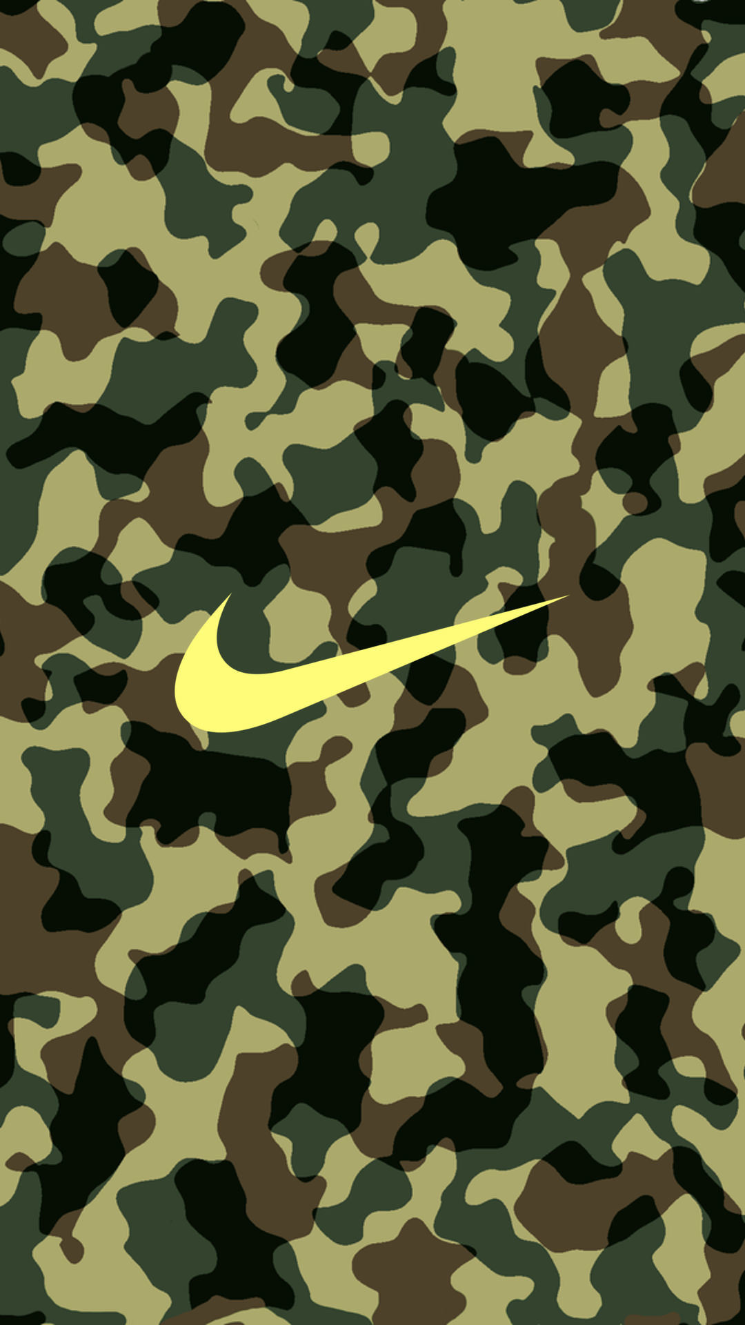 Res: 1080x1920,  NIKE Logo Camouflage iPhone Wallpaper