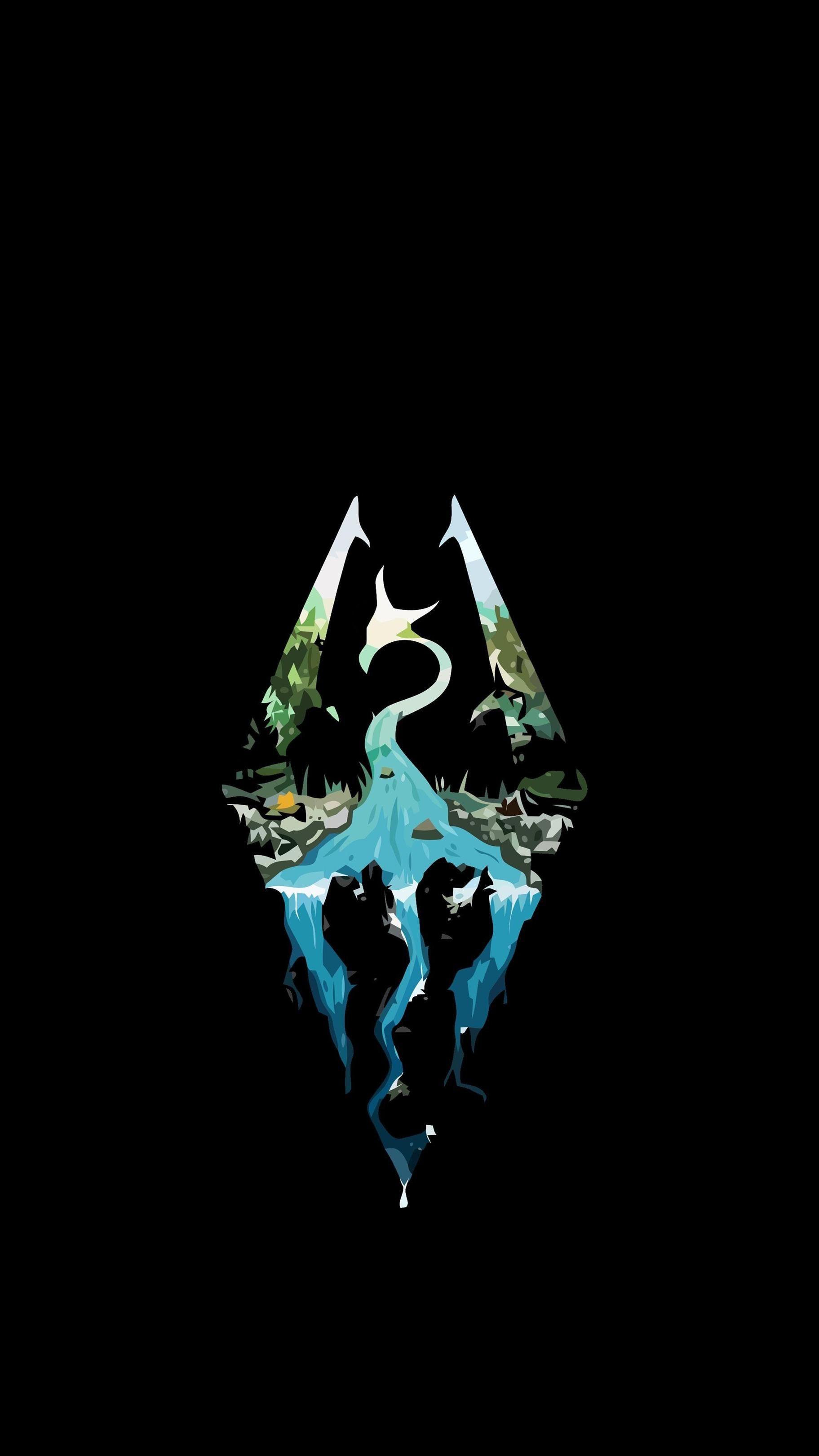 Res: 1823x3240, Phone wallpaper Skyrim logo - Tweaked for iPhone Lock Screen - Original  post by hdxdaniel #
