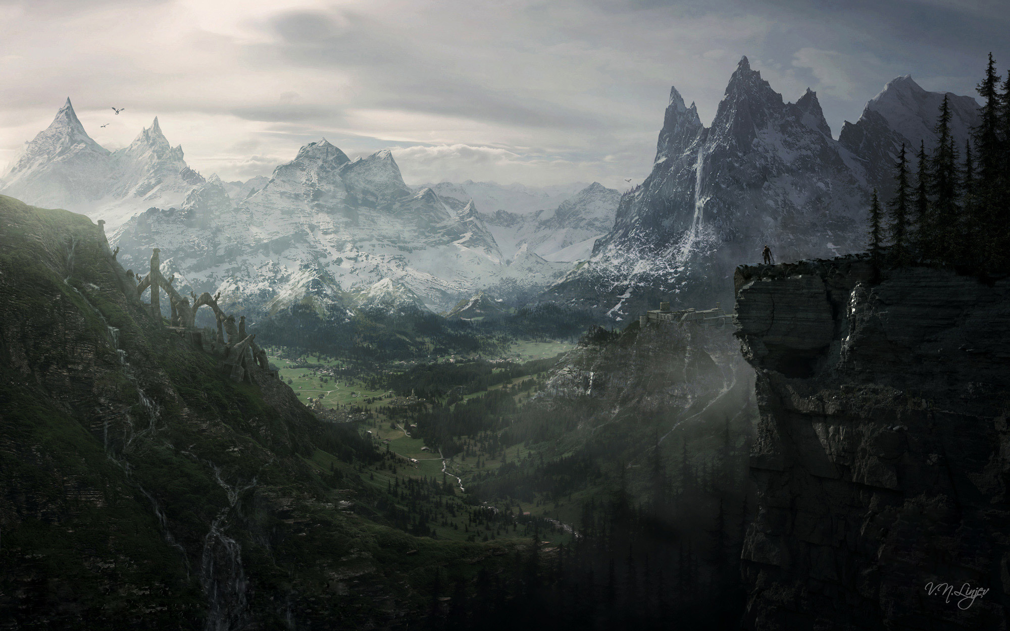 Res: 2000x1250, Skyrim Wallpapers On Wallpaper Hd