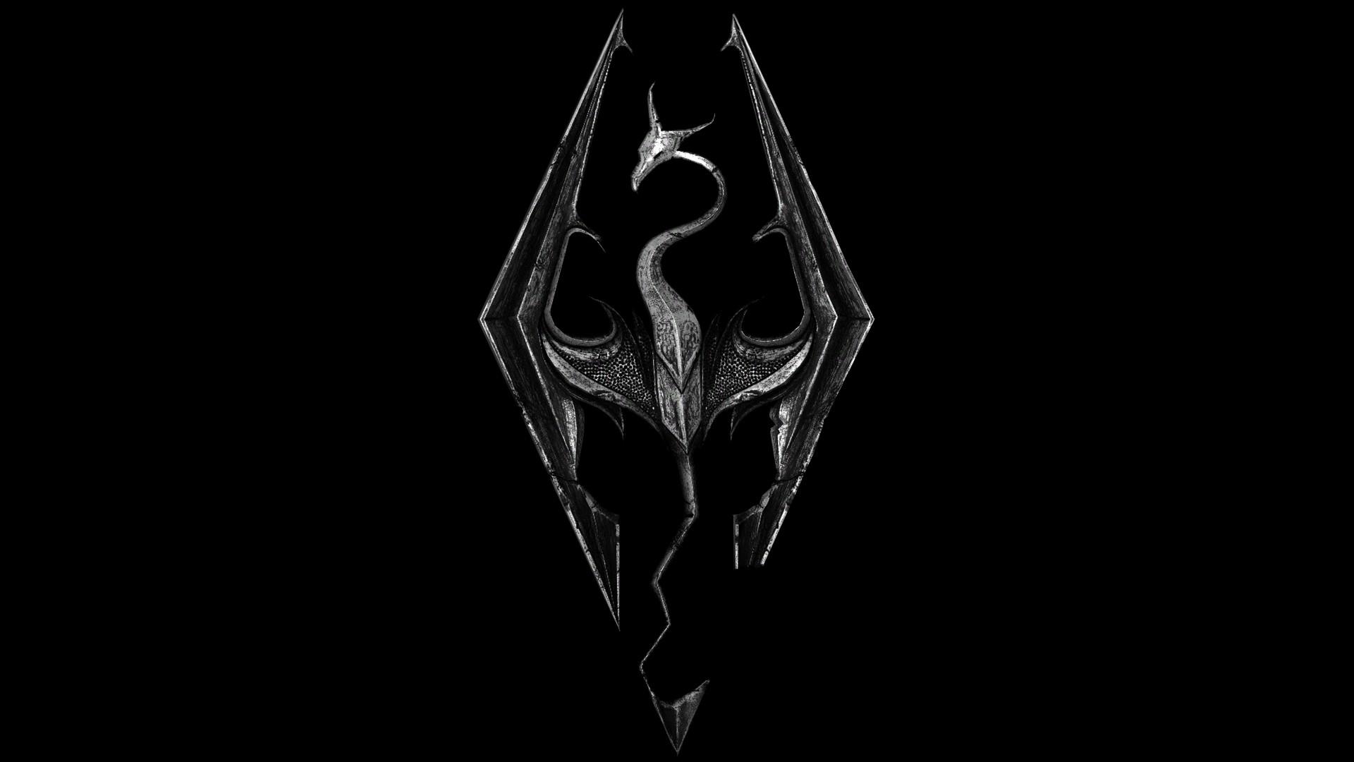 Res: 1920x1080, Skyrim Logo