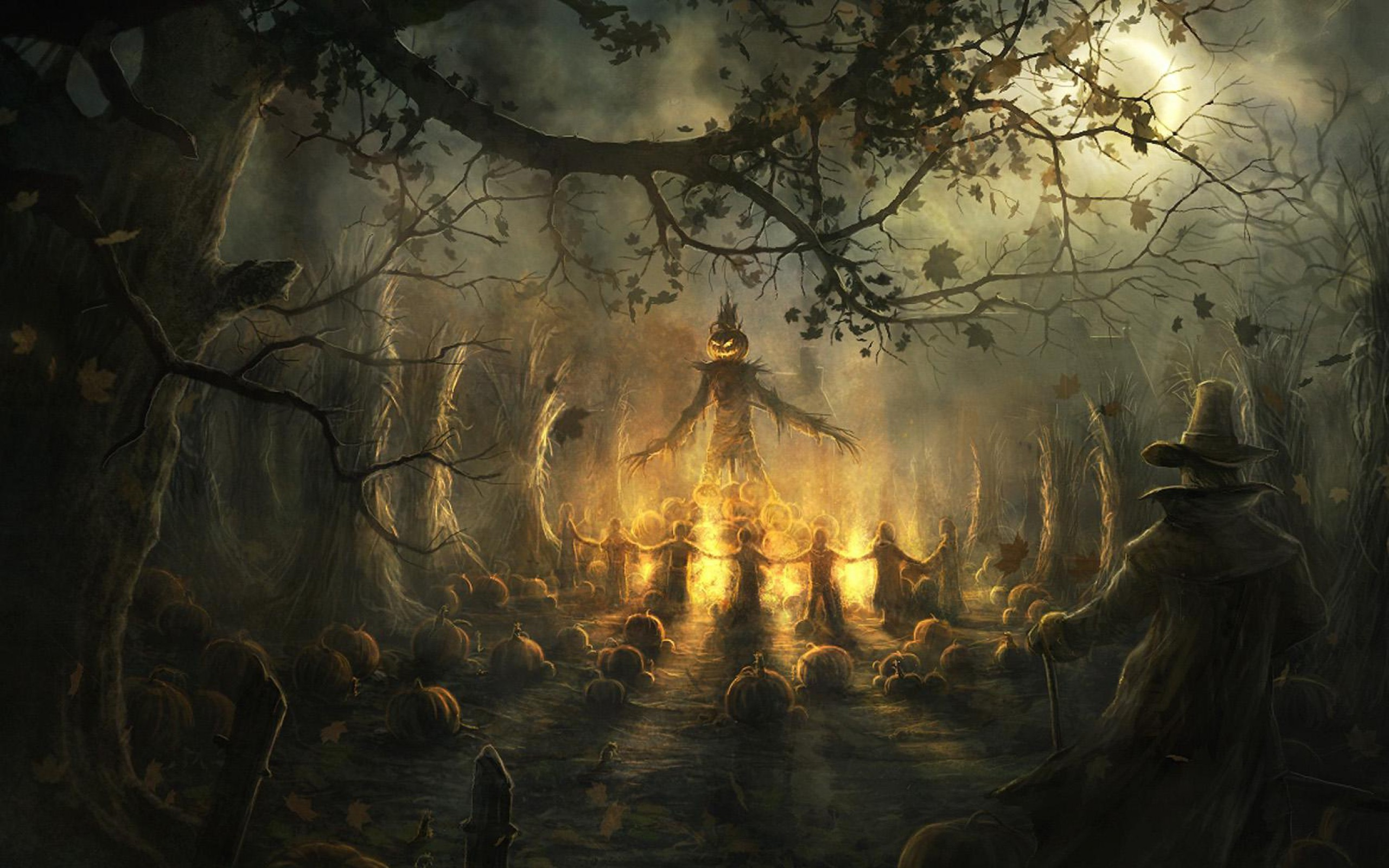 Res: 2560x1600, Halloween Scary