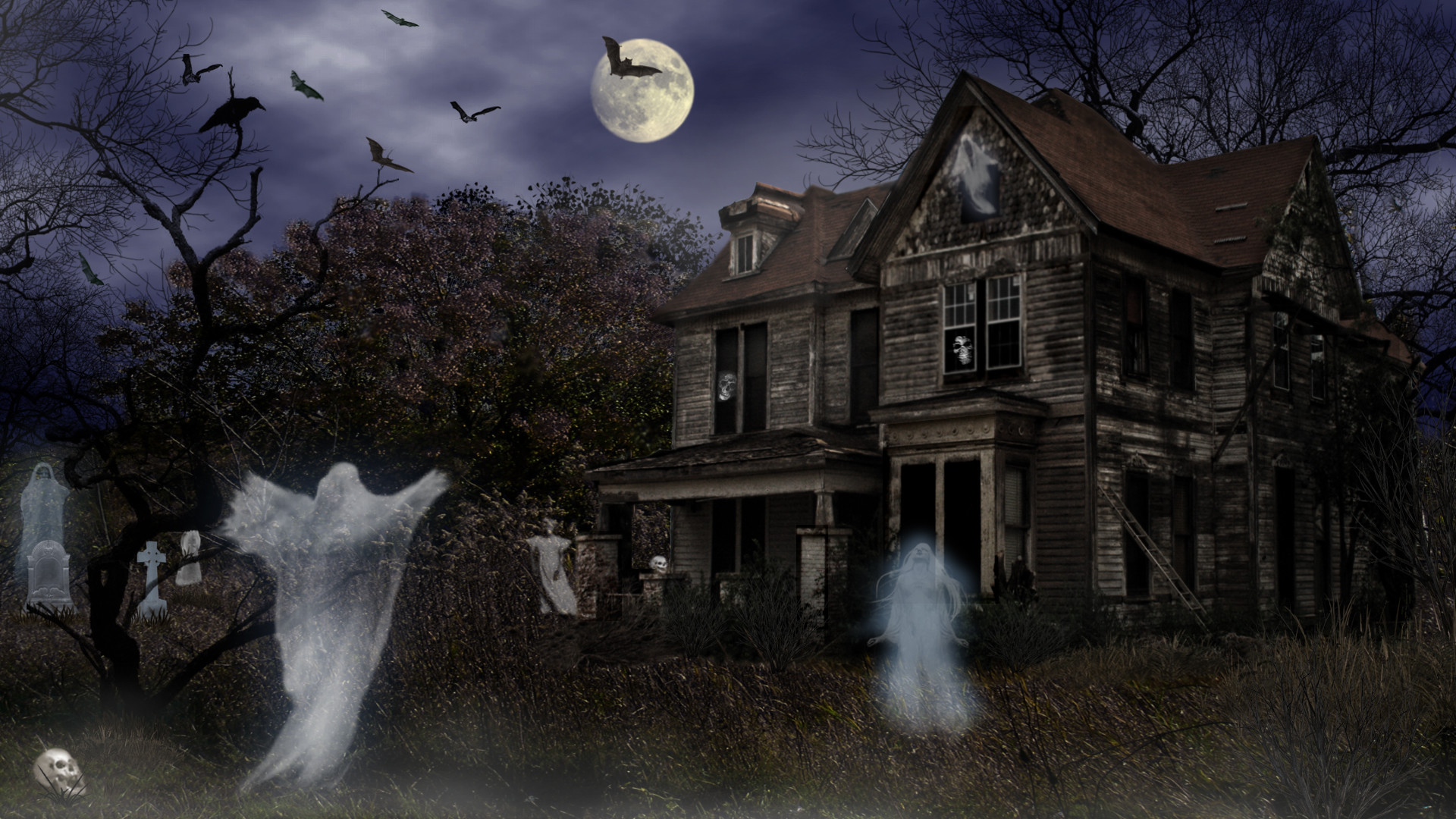 Res: 1920x1080, Scary Halloween Screensavers 21641