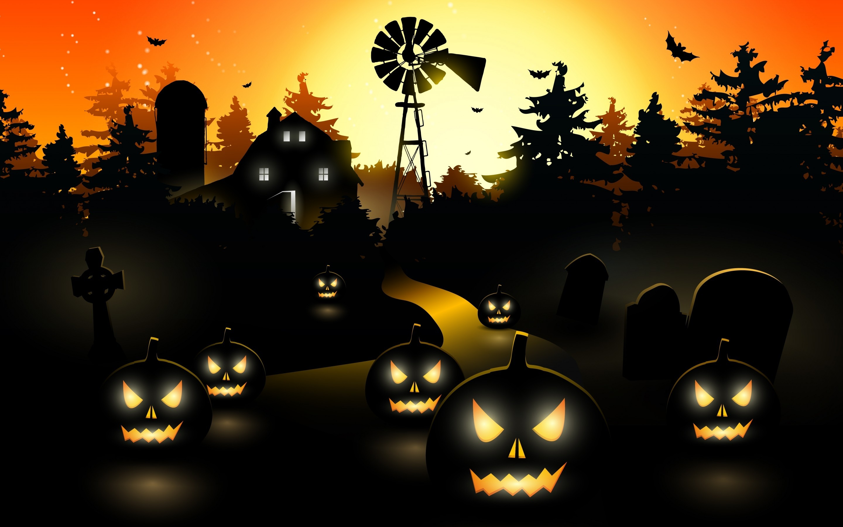 Res: 2880x1800, Scary Halloween Wallpaper