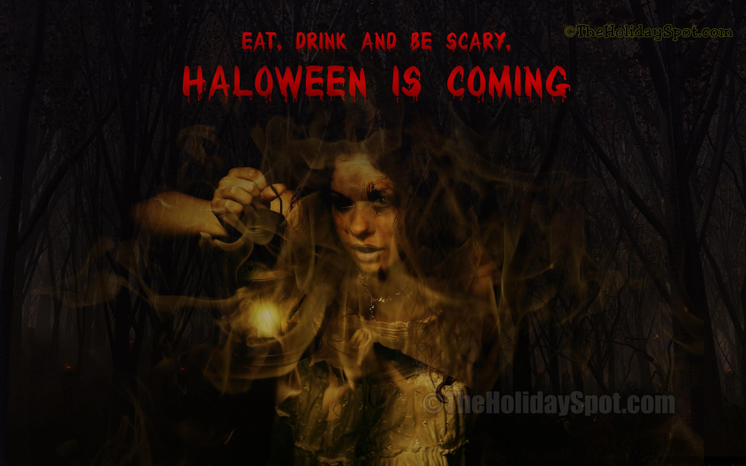 Res: 2560x1600, Spooky Halloween Wallpaper
