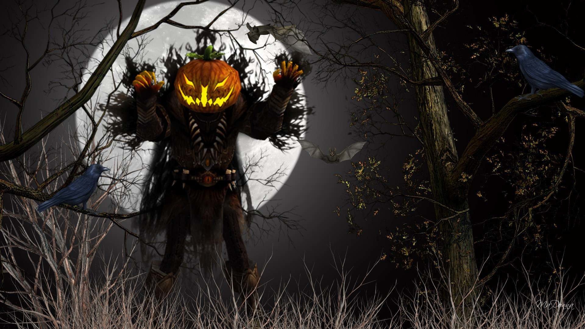 Res: 1920x1080, Weird Scary Halloween Picture Wallpaper