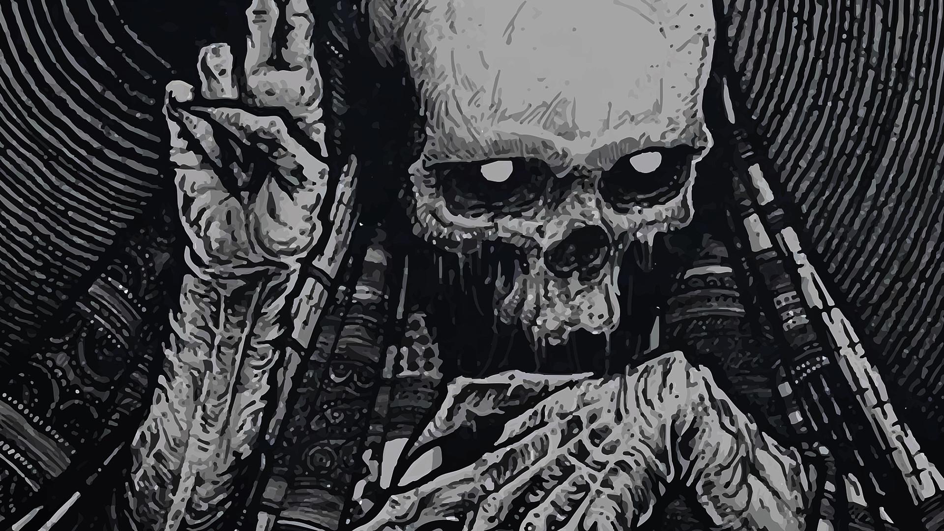 Res: 1920x1080, Dark fantast skeleton skull occult horror creepy spooky scary halloween  wallpaper      27791   WallpaperUP