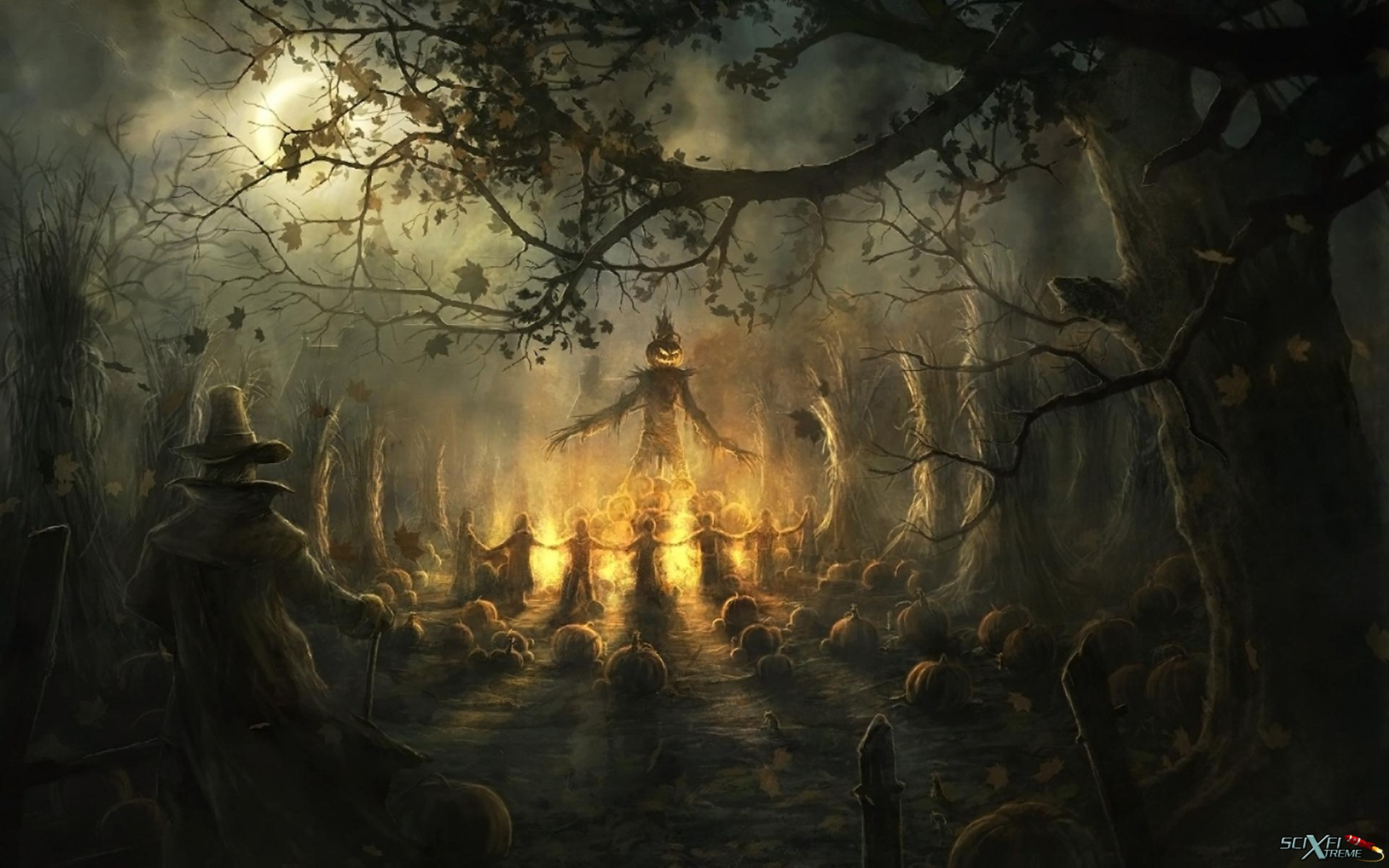 Res: 2880x1800, Scary Halloween Hd Wallpaper