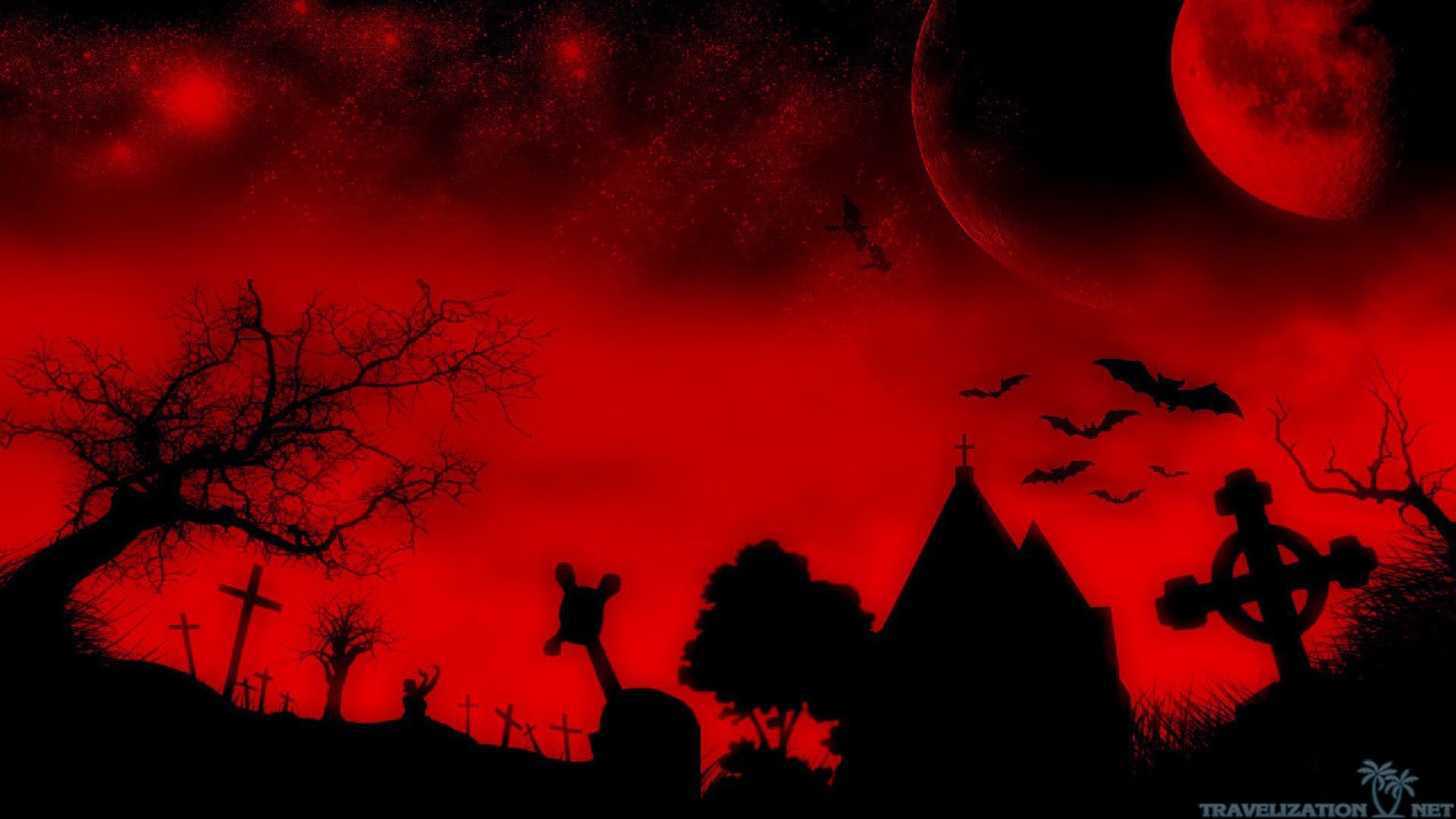 Res: 1920x1080, red halloween wallpaper ; bloody-night-scary-halloween-wallpapers-