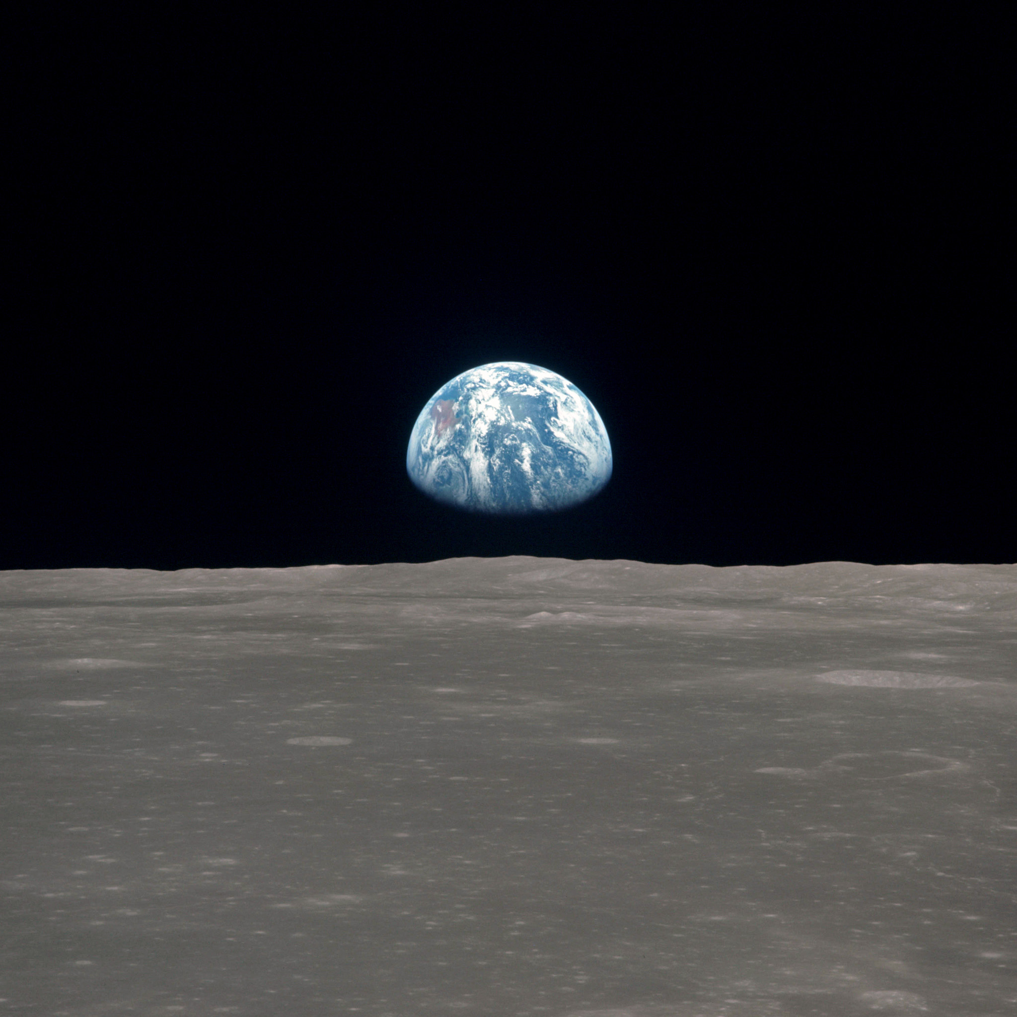 Res: 2048x2048, nasa - as11-44-6550 planet earth seen from the moon ipad wallpaper