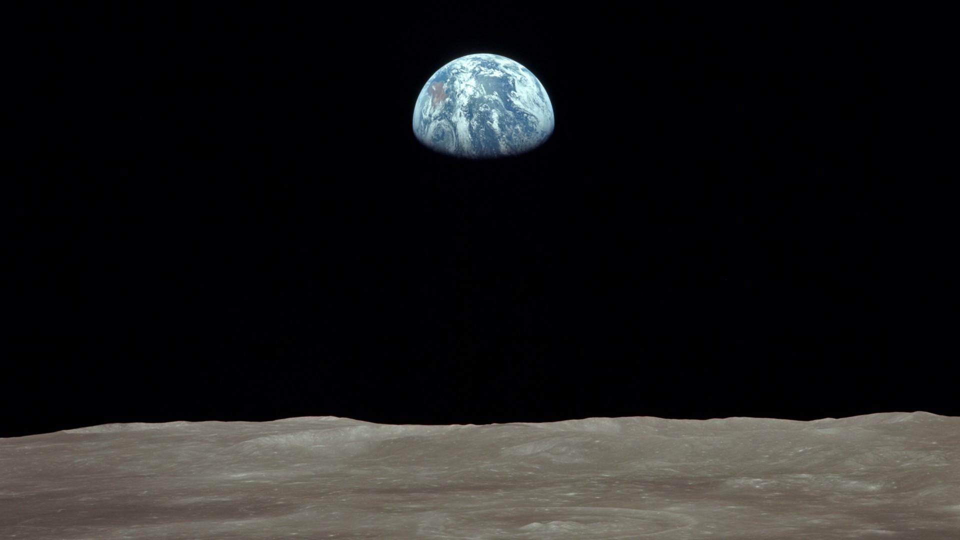 Res: 1920x1080, Earth moon nasa astronomy earthrise wallpaper