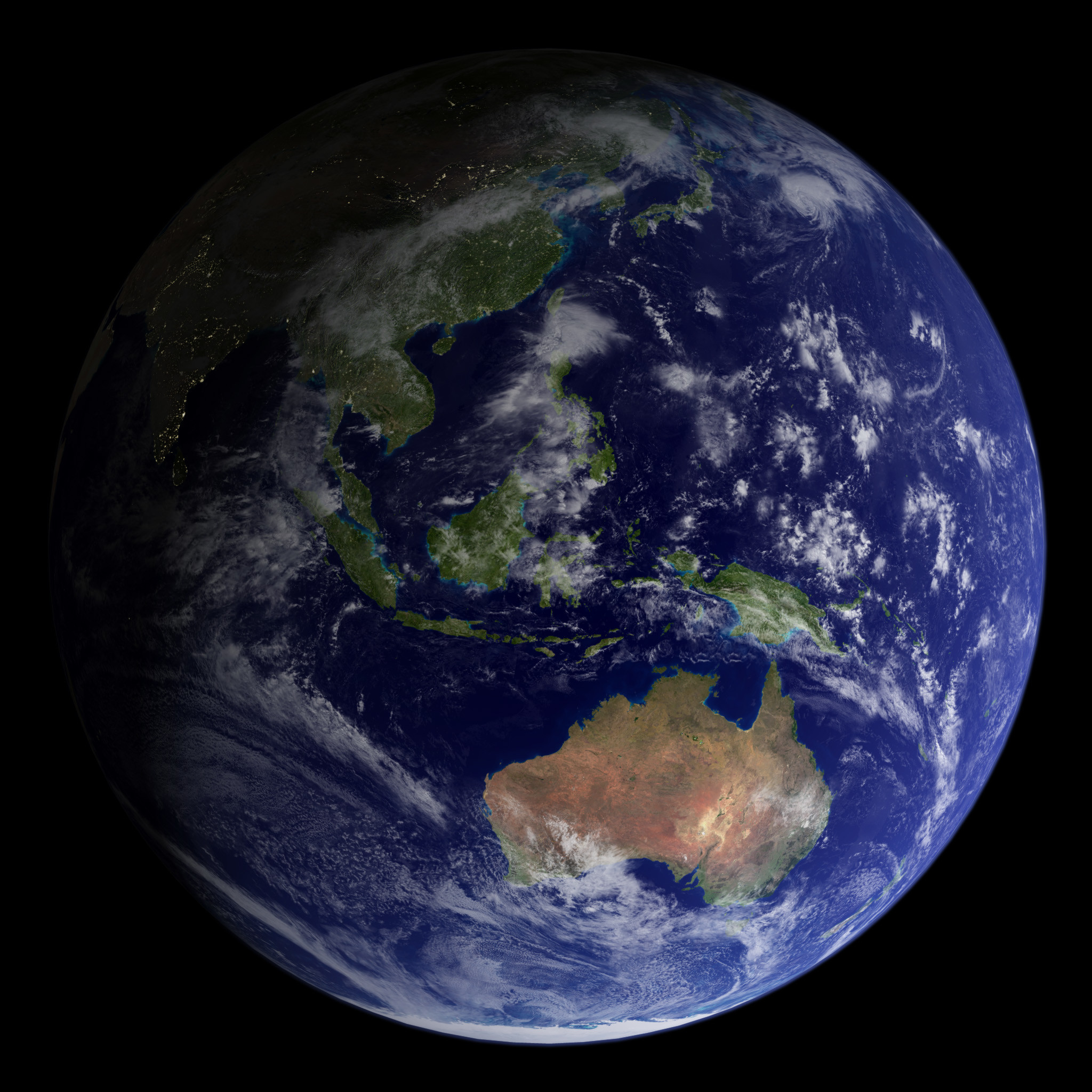 Res: 2048x2048, Blue Marble 2002