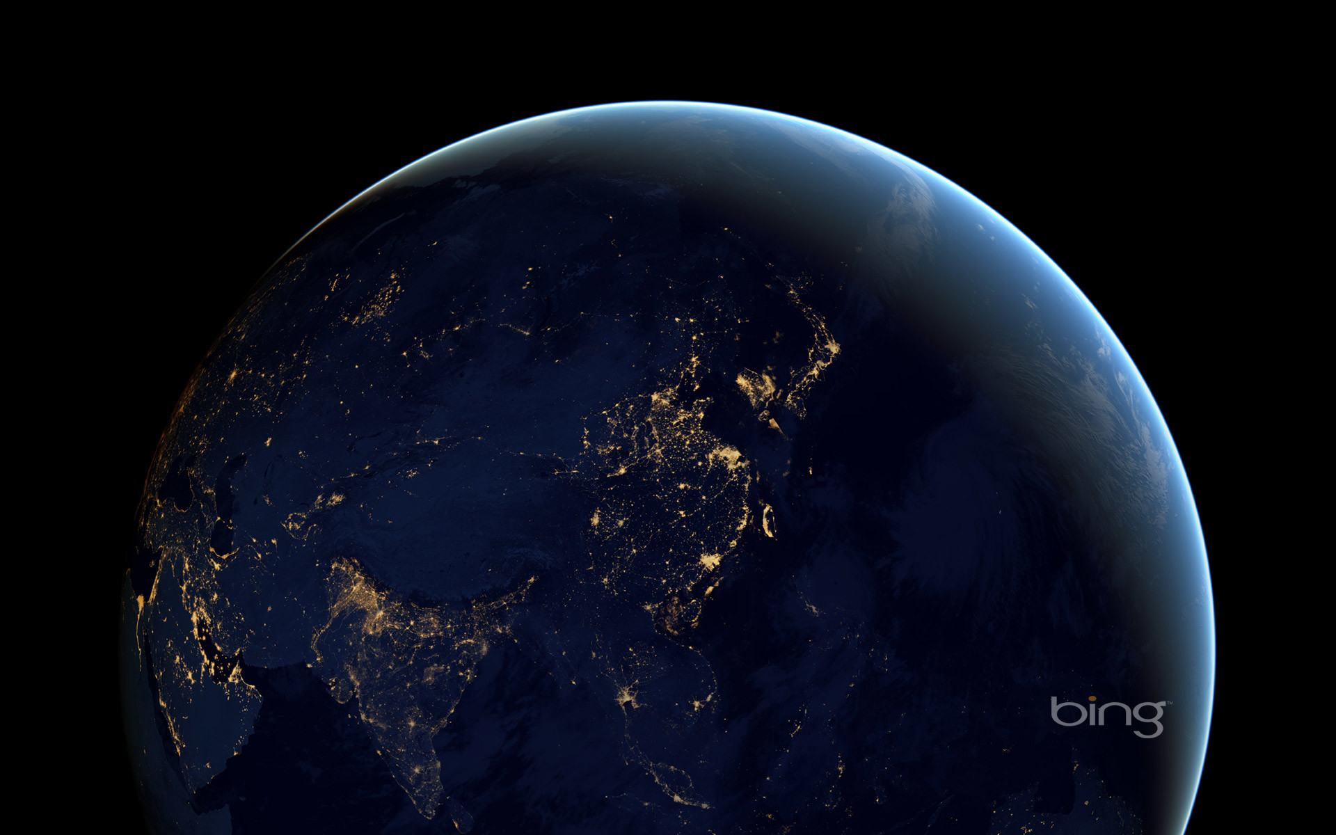 Res: 1920x1200, ... Composite image of Earth at night from space (© Robert Simmon/NASA)