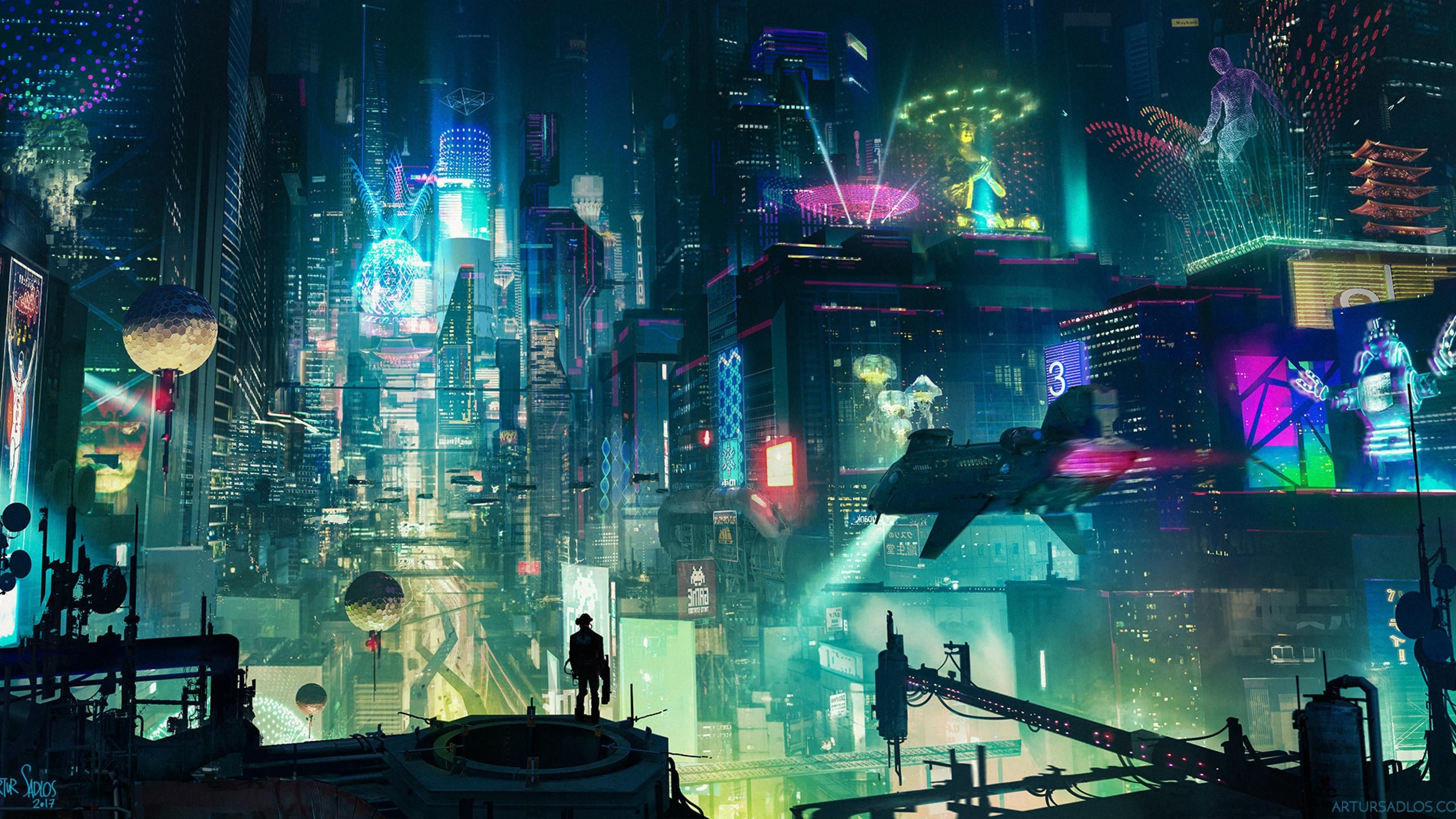 Res: 3840x2160, Sci Fi City []