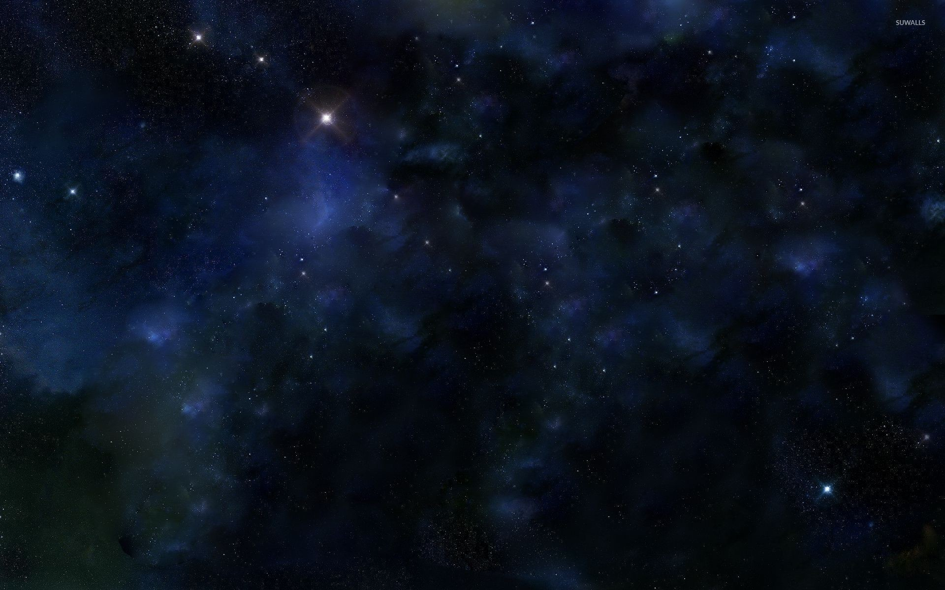 Res: 1920x1200, Light in the blue universe wallpaper