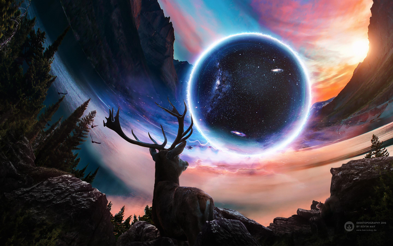 Res: 2880x1800, Close Planet Deer