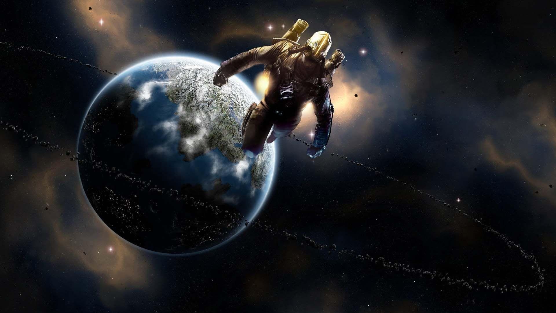 Res: 1920x1080, Spaceman In Universe | HD Digital Universe Wallpaper Free Download ...