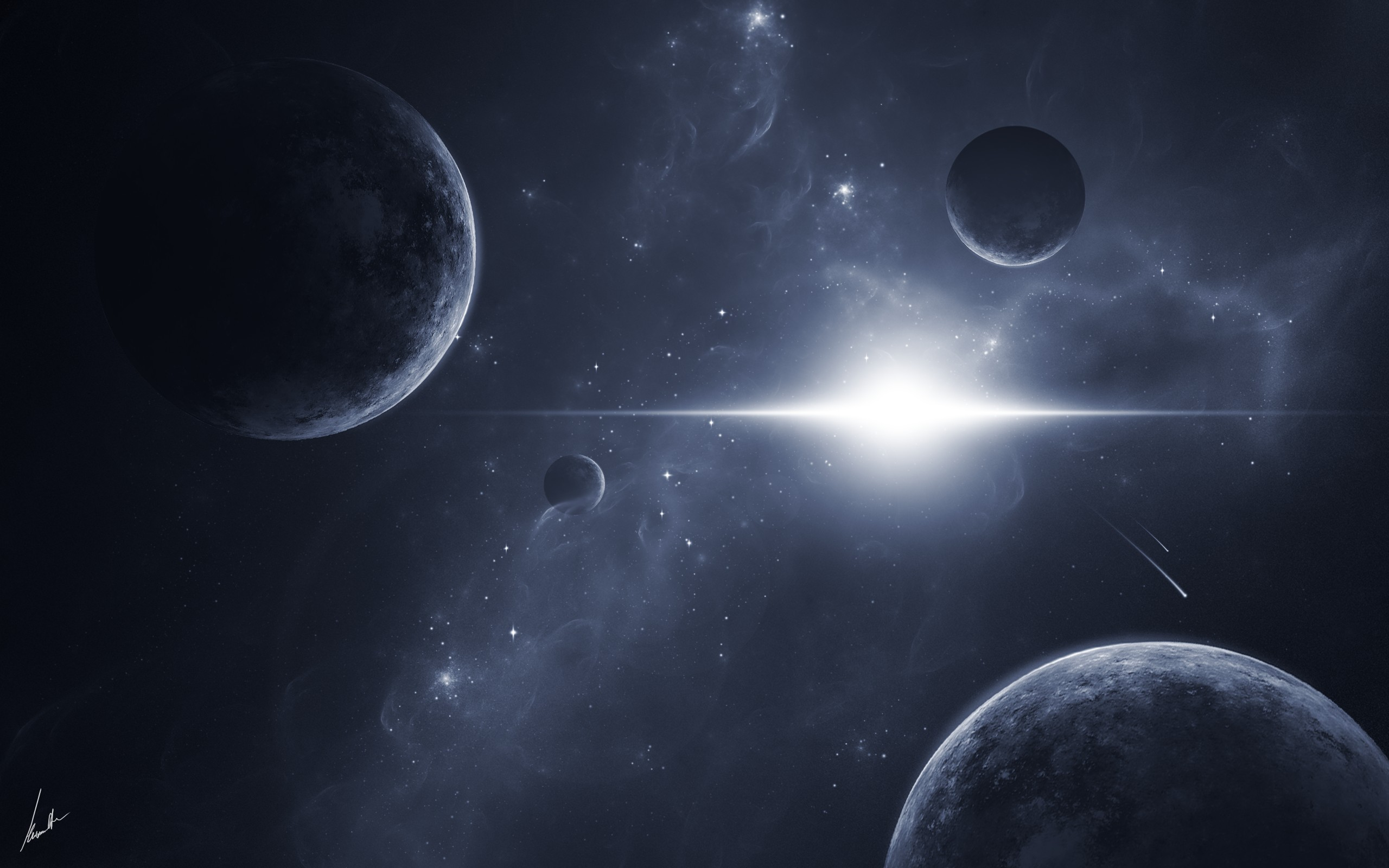 Res: 2560x1600, Glowing universe wallpaper