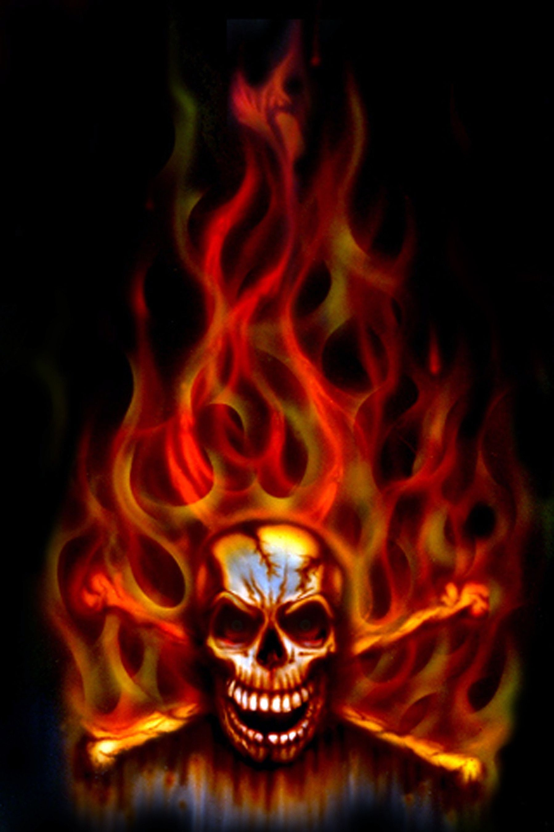 Res: 1799x2700, Flaming Skull Wallpapers - Wallpaper Cave