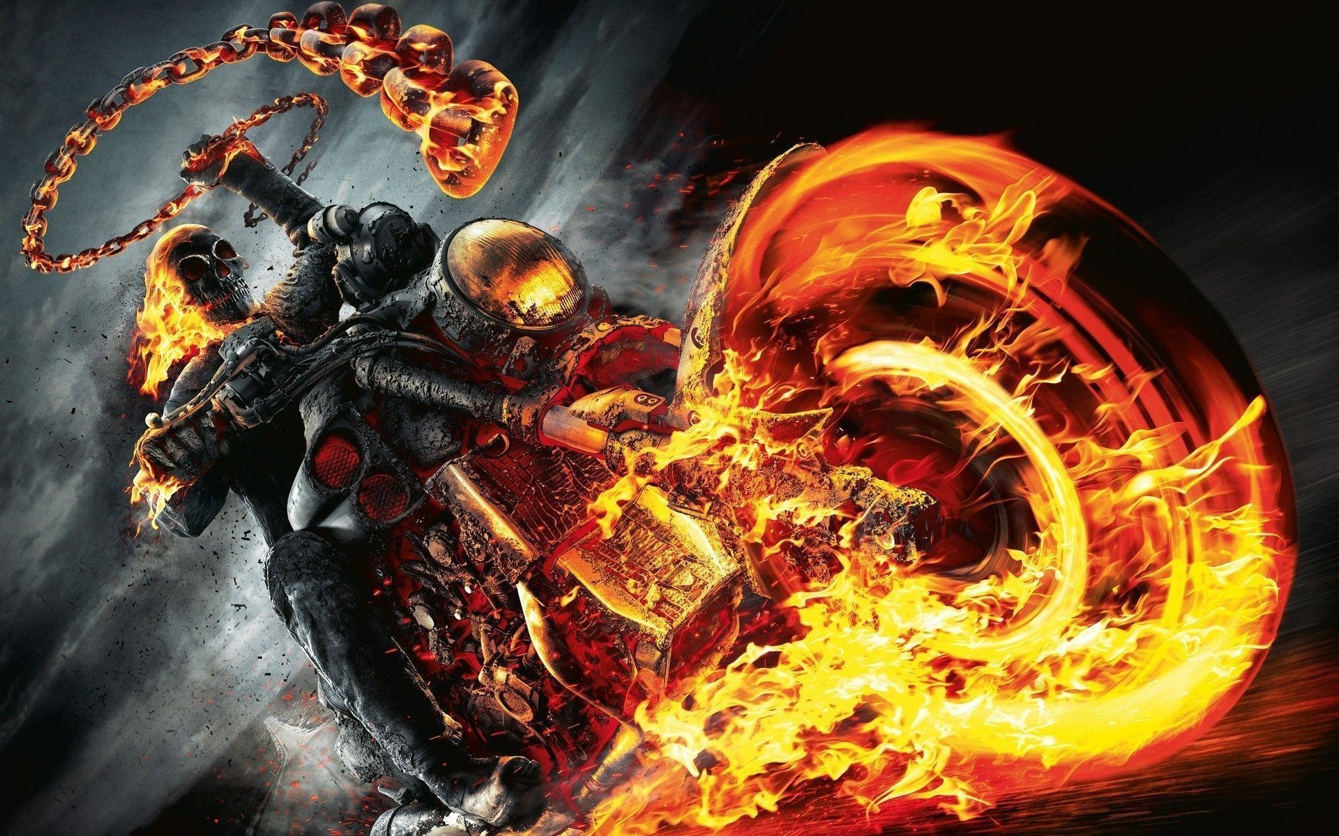 Res: 1920x1200, Most Downloaded Fire Skull Wallpapers - Full HD wallpaper search