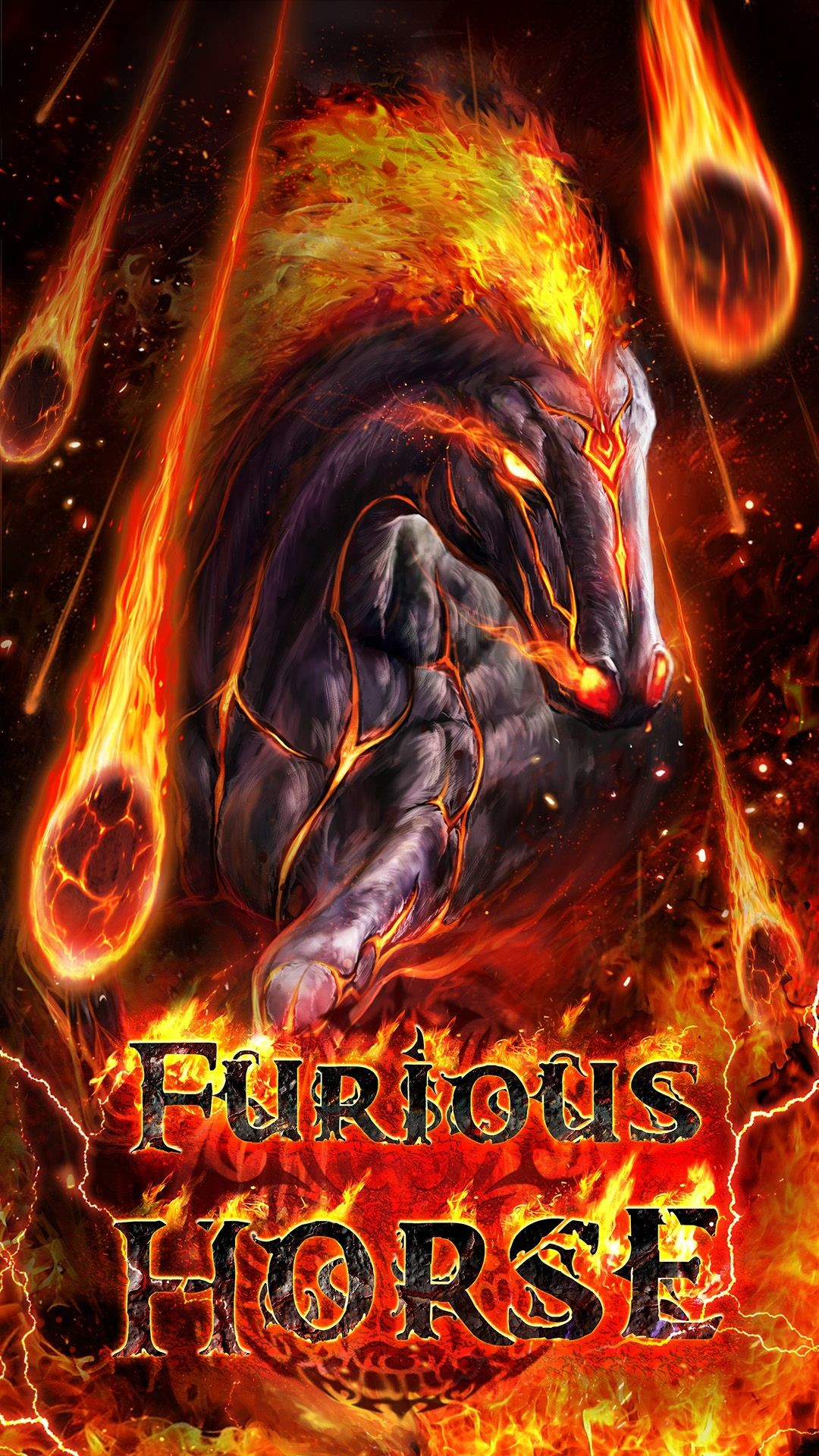Res: 1080x1920, Furious flaming horse live wallpaper! Android live wallpaper!