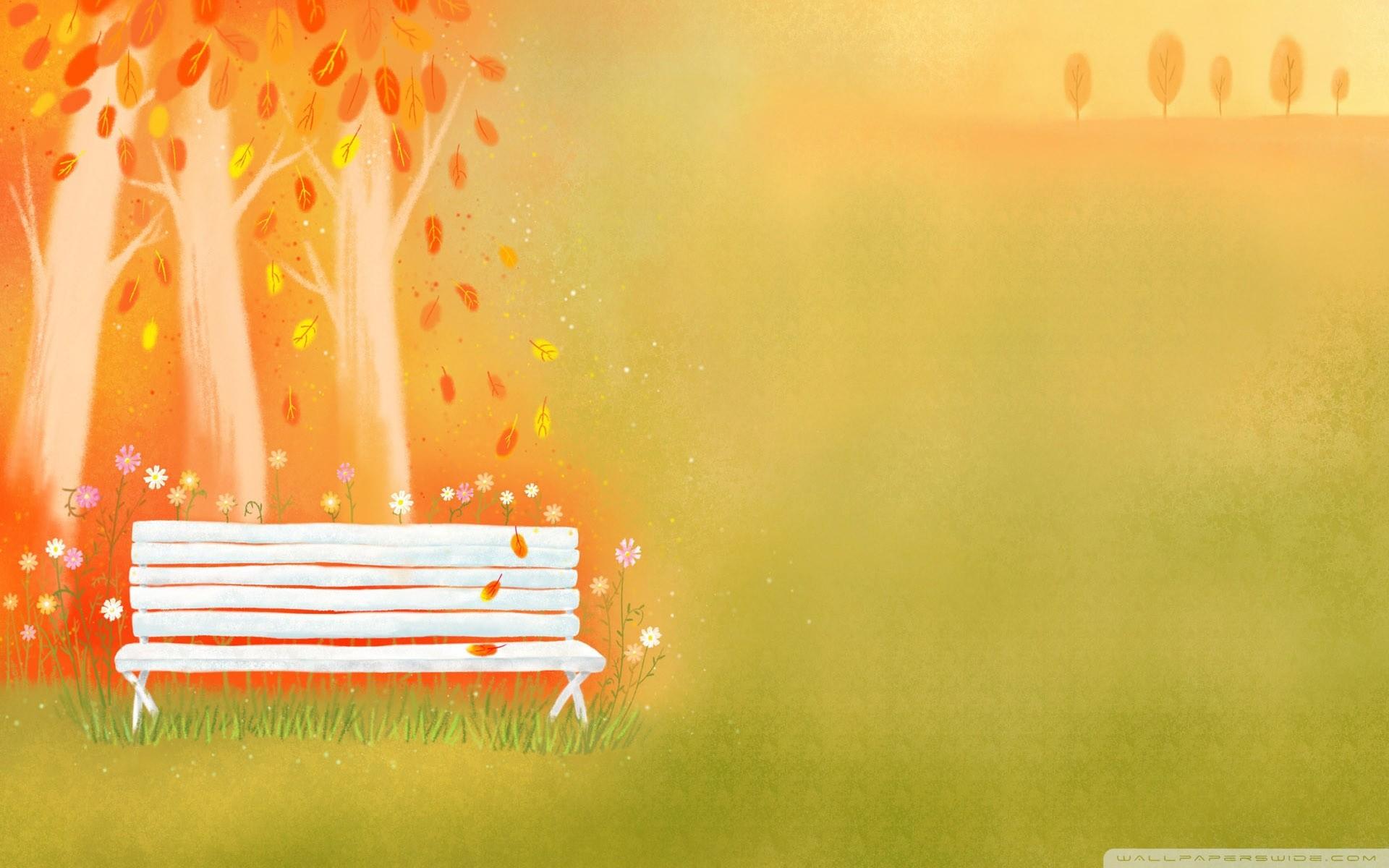 Res: 1920x1200, Empty Bench Autumn HD desktop wallpaper : Widescreen : High .