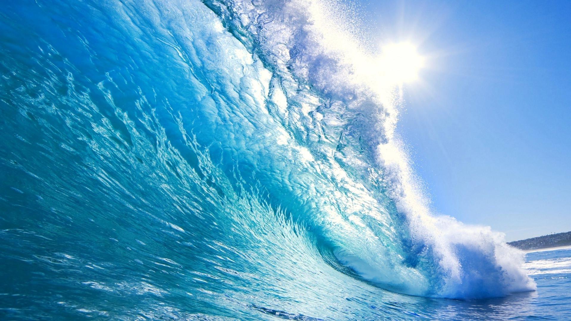 Res: 1920x1080, Ocean waves desktop background wallpaper HD.