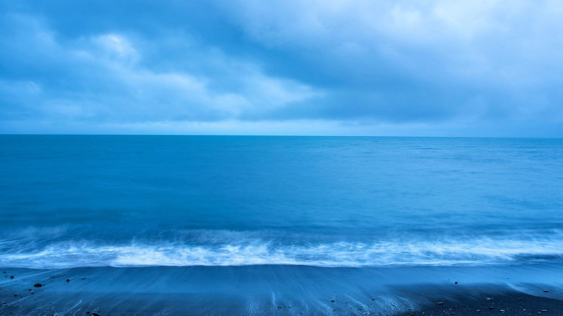 Res: 1920x1080, Sea Ocean - Clouds Sky Beach Sea Nature Pictures Desktop Hd for HD 16:9