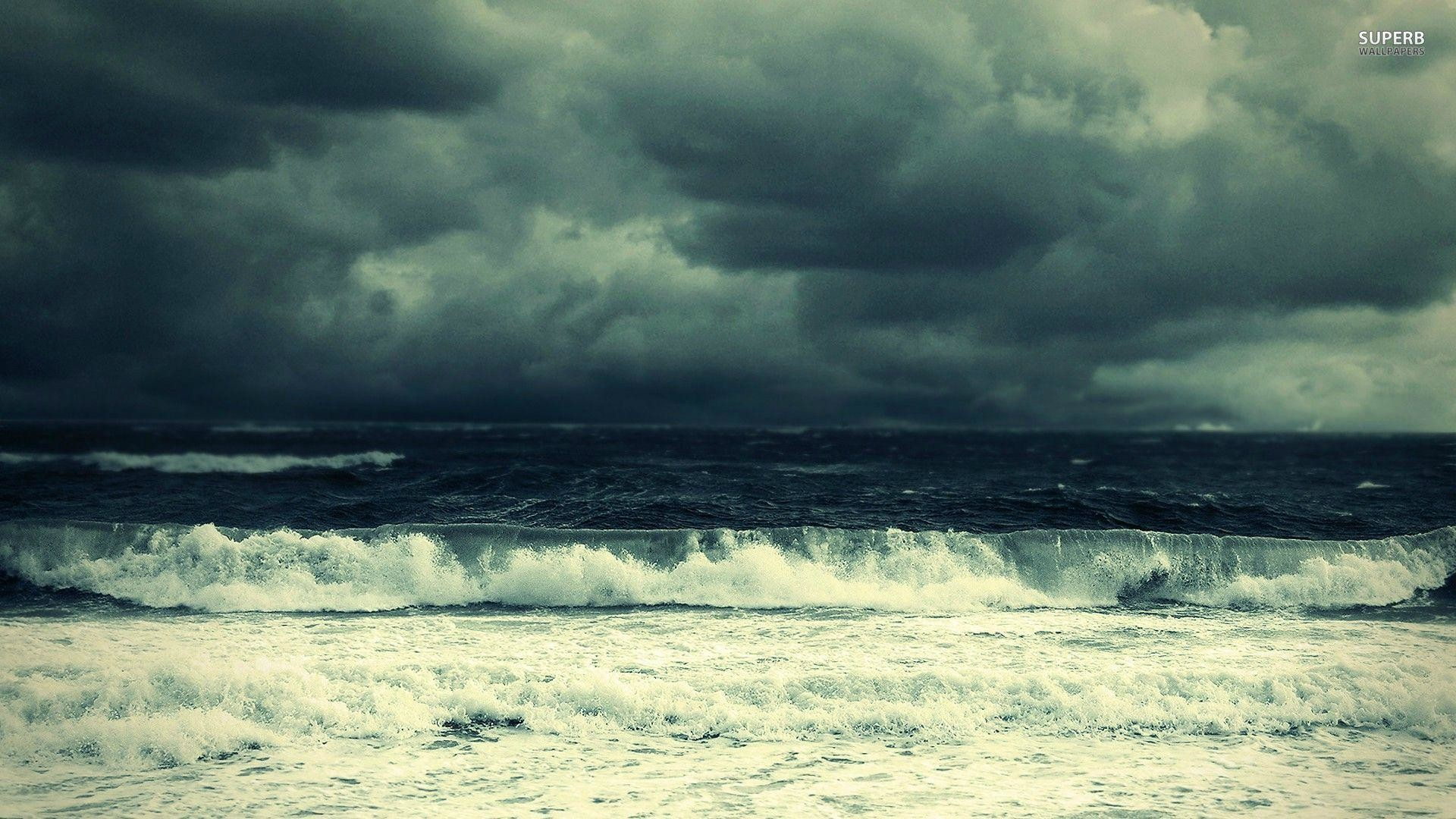 Res: 1920x1080, Stormy sea wallpaper - Beach wallpapers - #