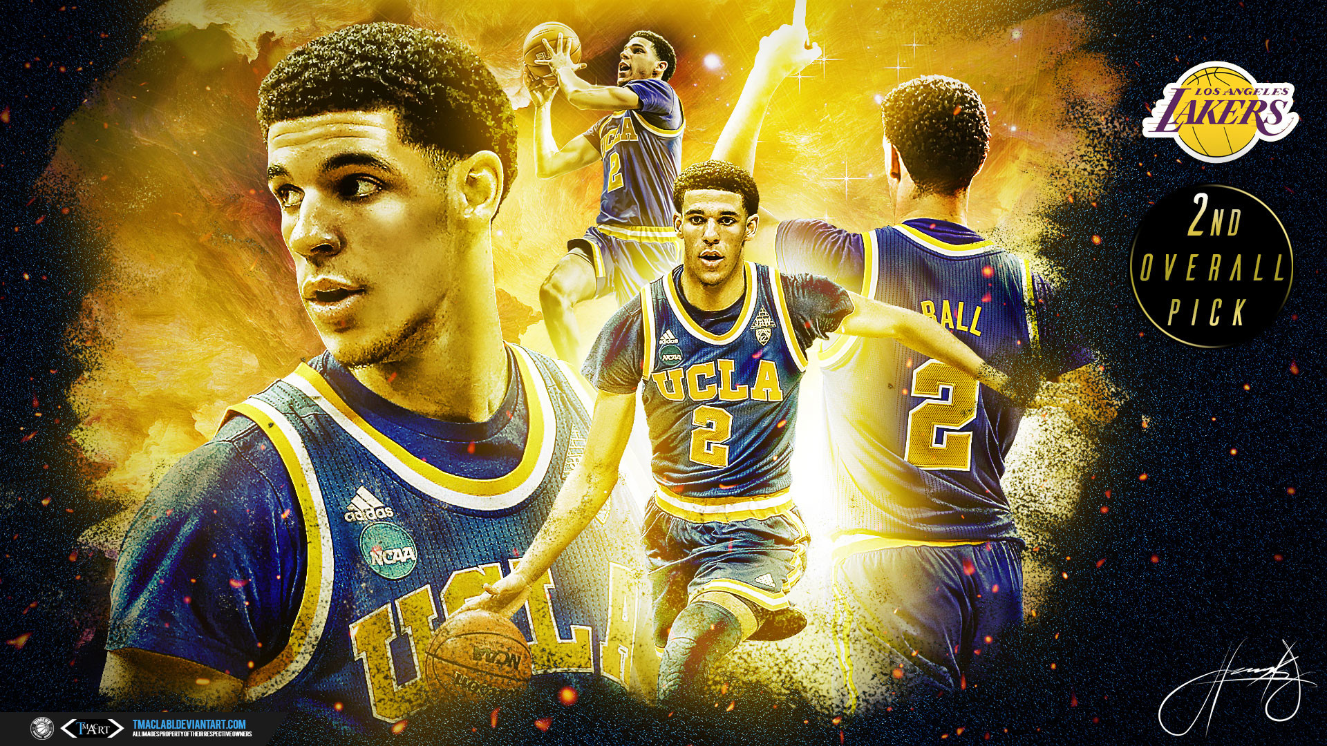 Res: 1920x1080, UCLA Bruins Wallpapers. Lonzo Ball 2nd Pick 2017  Wallpaper