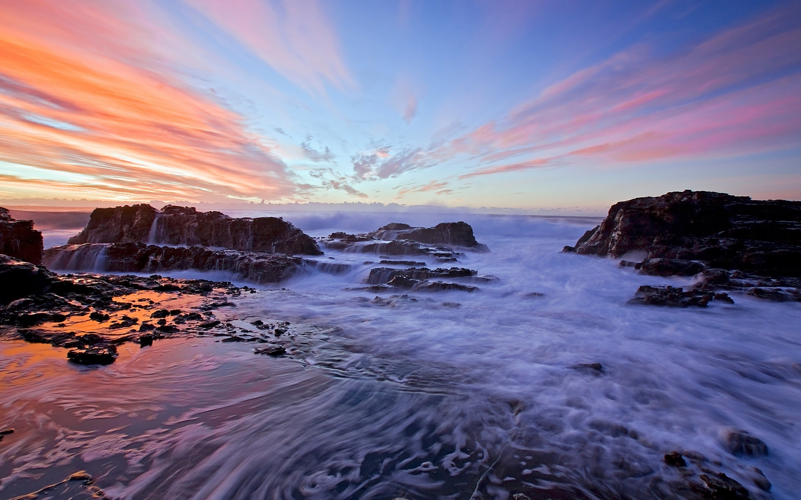 Res: 2560x1600, Sunset Ocean Wallpaper for Android Wallpaper
