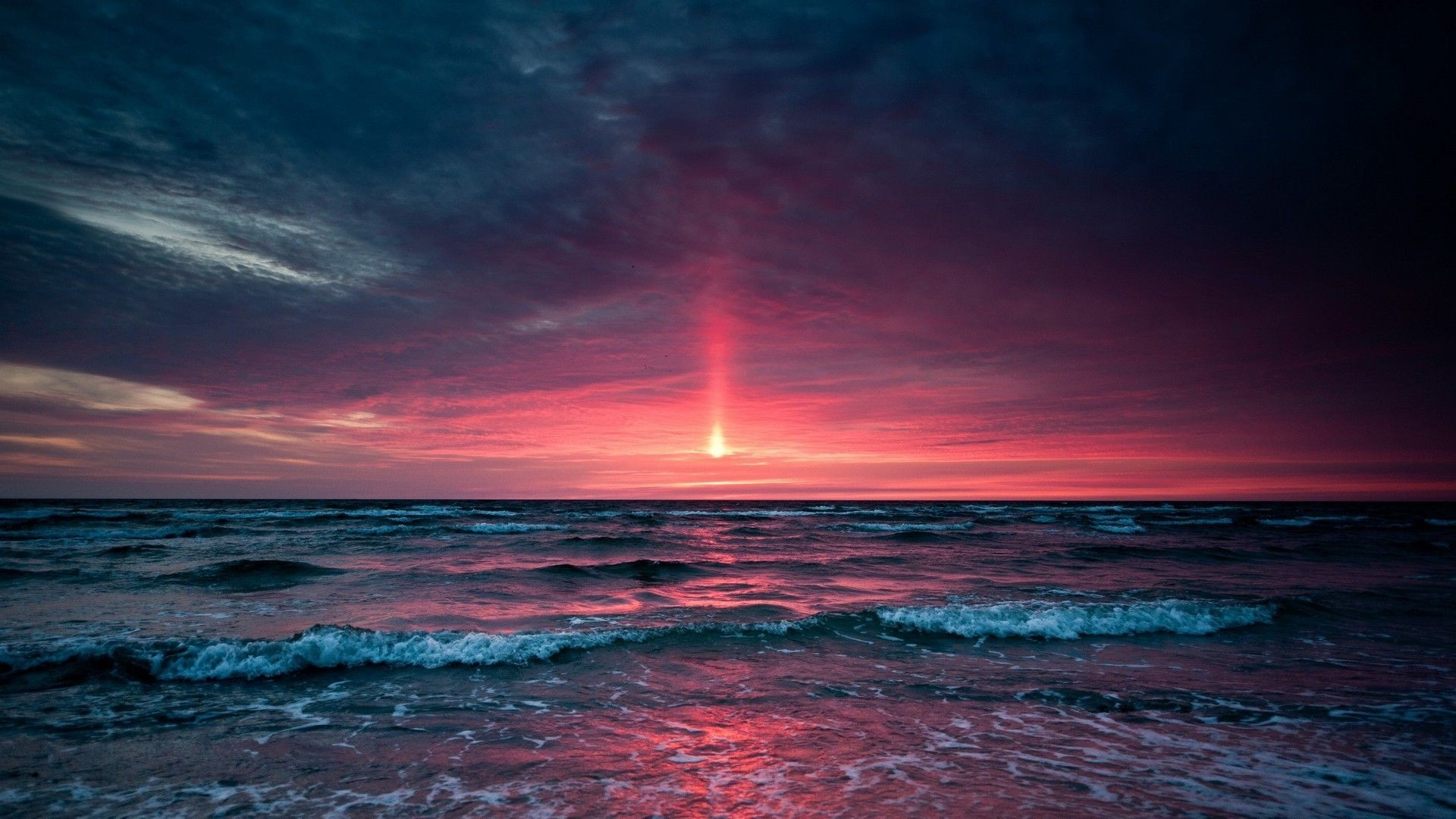 Res: 1920x1080, Ocean Sunset Desktop Wallpapers | Hd Wallpapers