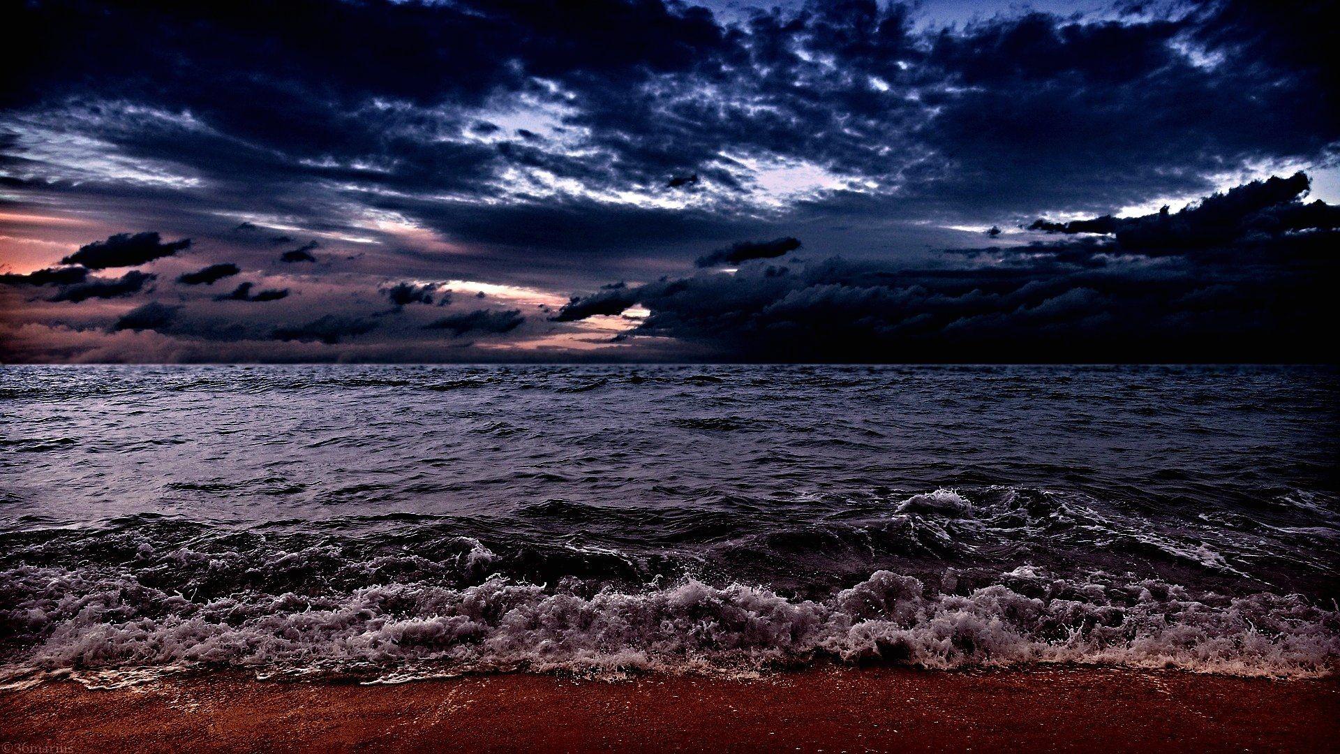Res: 1920x1080, Dark Ocean Wallpaper Full HD #F4z