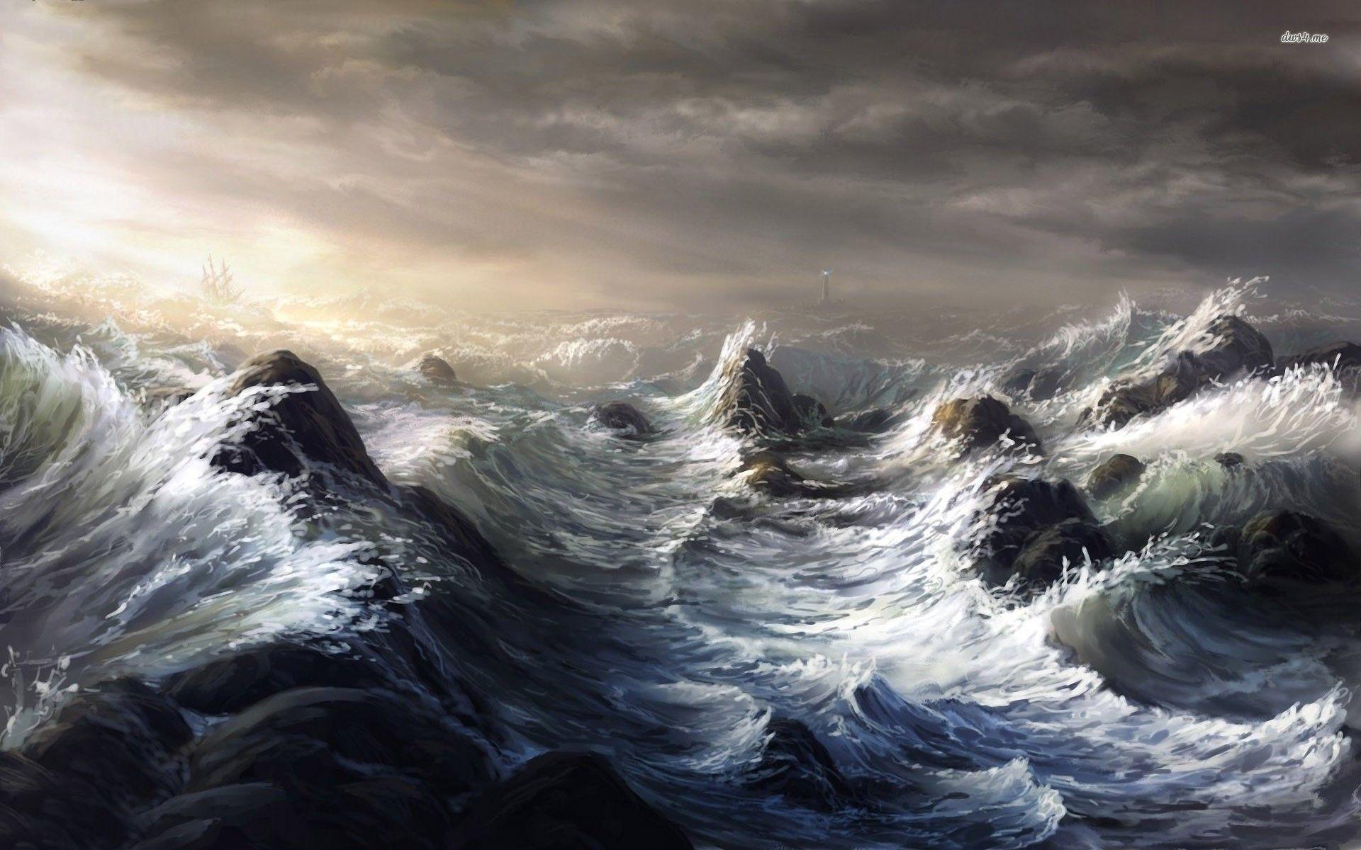 Res: 1920x1200, Ocean Storm Wallpaper 1080p