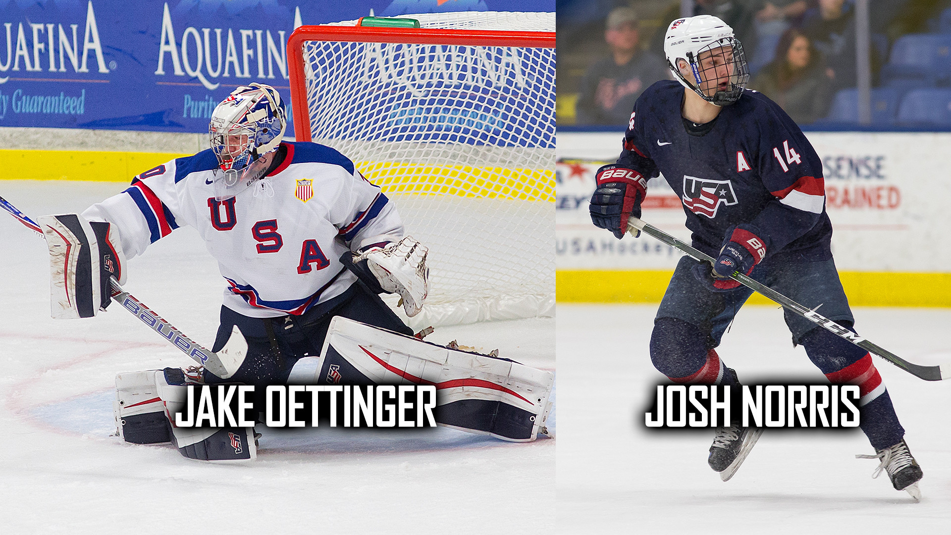 Res: 1920x1080, CHICAGO – USA Hockey National Team Development Program alumni Josh Norris  (Oxford, Mich.) and Jake Oettinger (Lakeville, Minn.) were selected in the  first ...