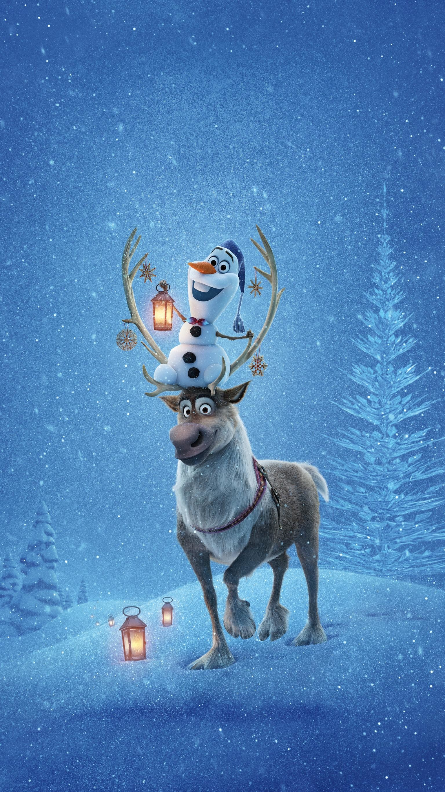 """Res: 1536x2732, Wallpaper for """"Olaf's Frozen Adventure"""" ..."""