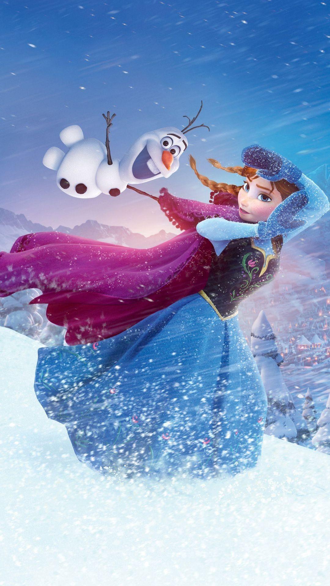 Res: 1080x1920, 2014 Halloween Frozen Anna Olaf iPhone 6 plus Wallpaper - Disney Wonderland  Cartoons