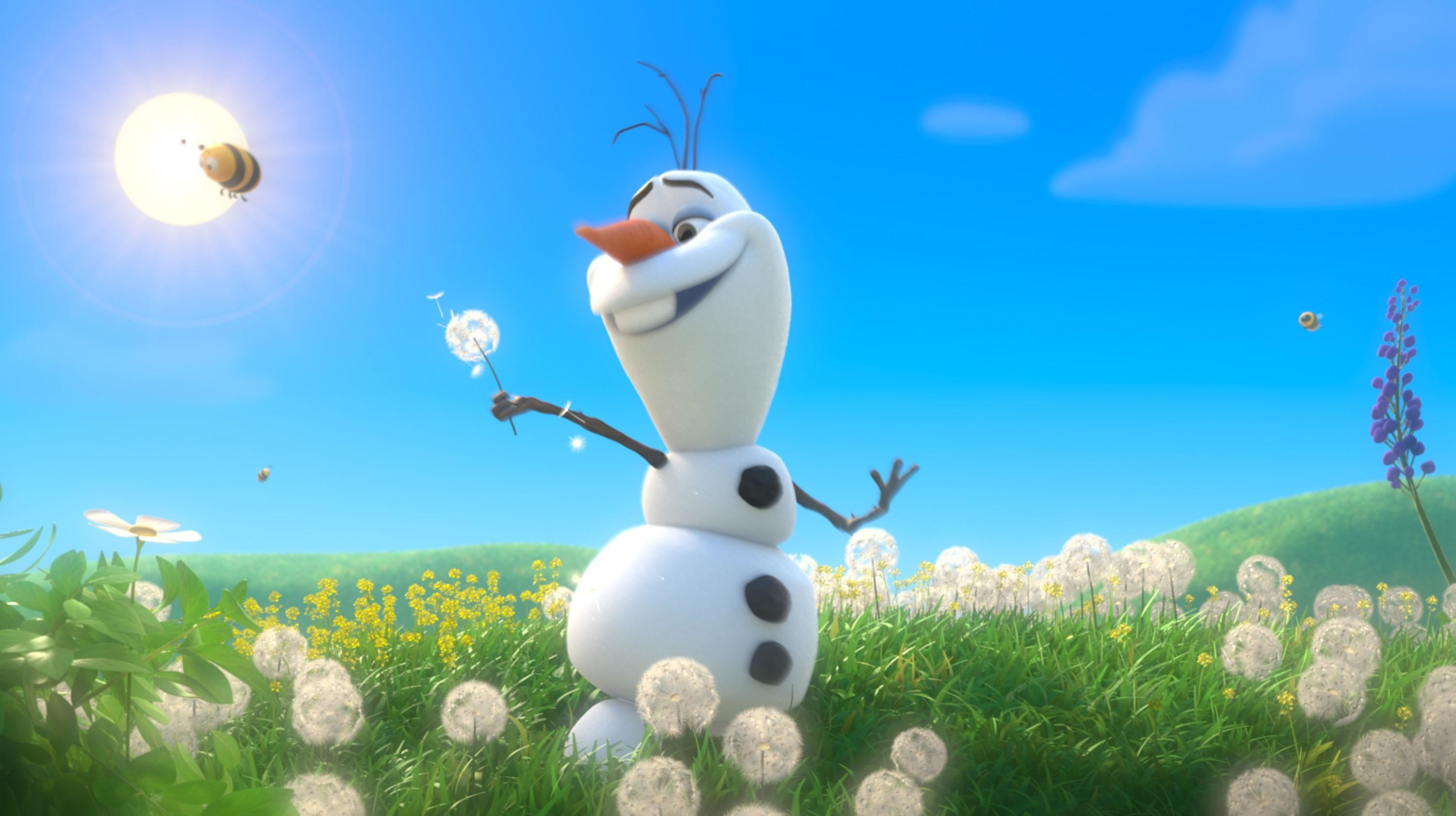 Res: 3000x1682, Olaf With Spring