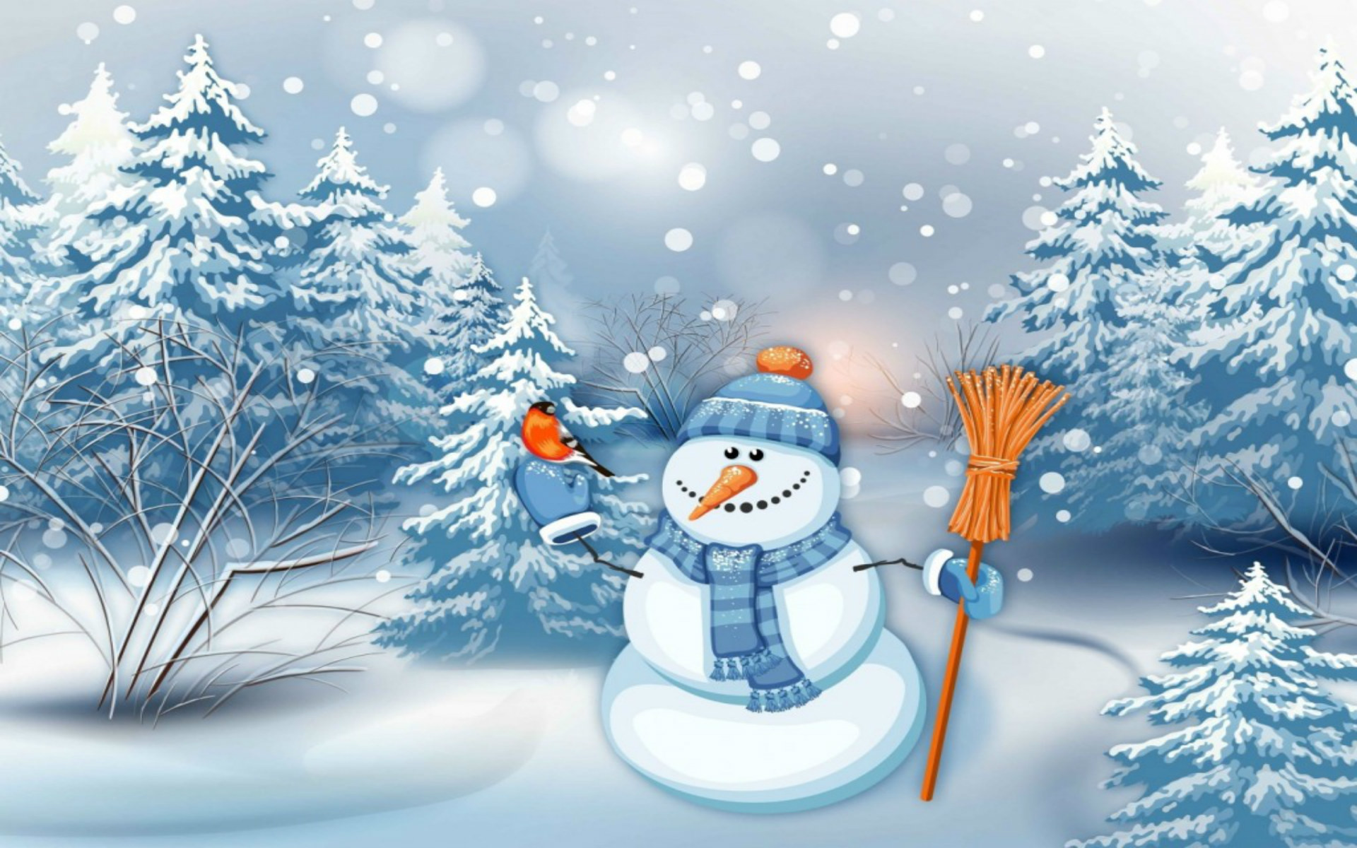 Res: 1920x1200, christmas snowman desktop wallpaper
