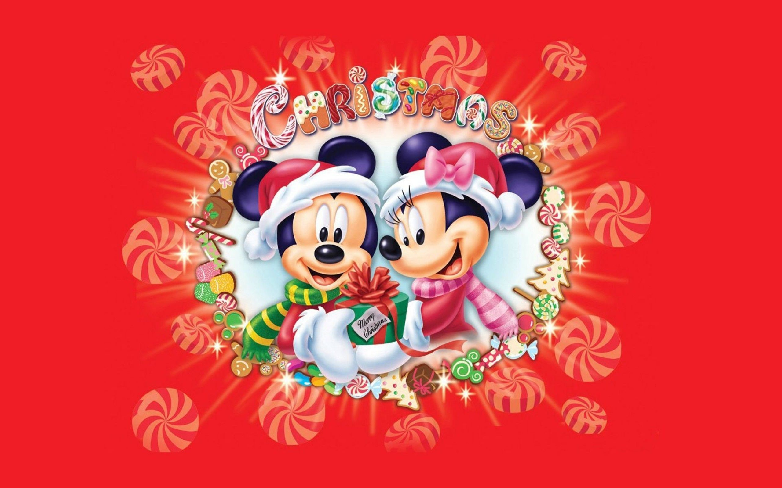 Res: 2560x1600, Xmas Stuff For > Mickey Mouse Christmas Wallpaper