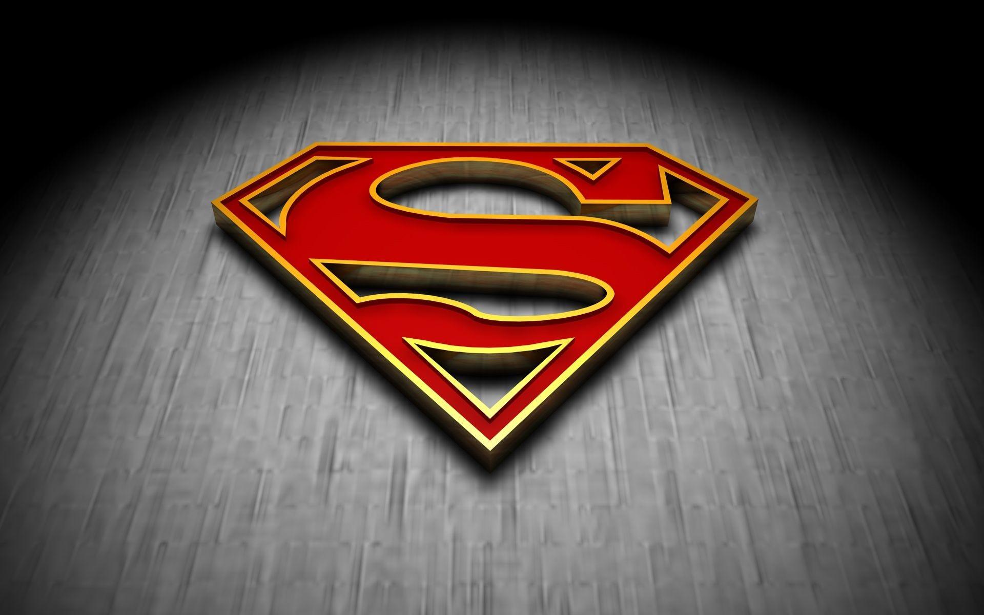 Res: 1920x1200, Superman Logo 3D