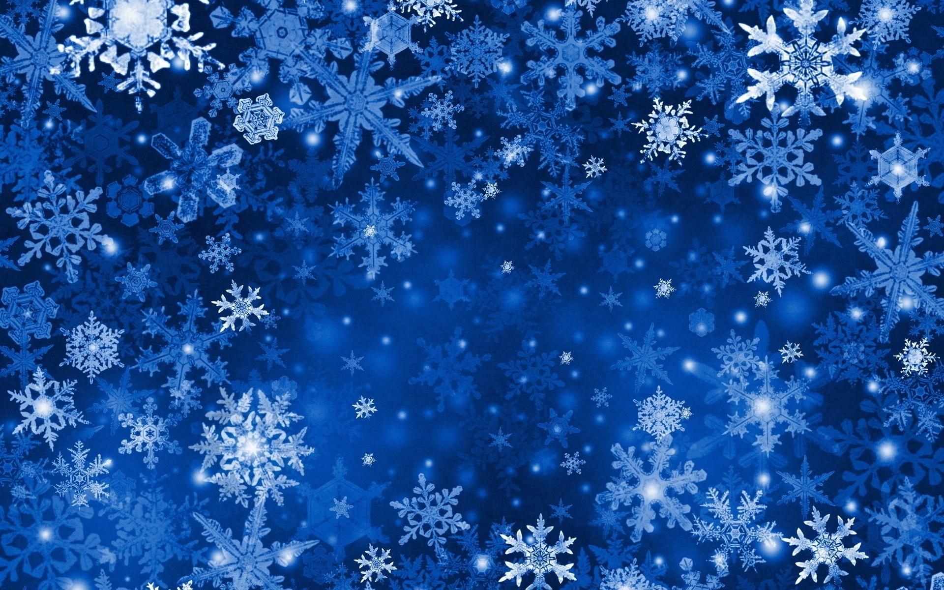 Res: 1920x1200, Artistic - Snowflake Abstract Winter Blue Wallpaper