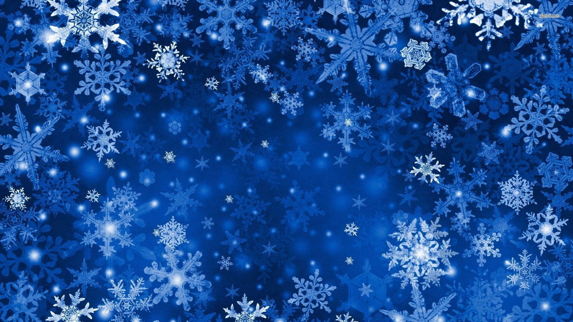 Res: 1920x1080, ... Blue Snowflakes wallpaper  ...